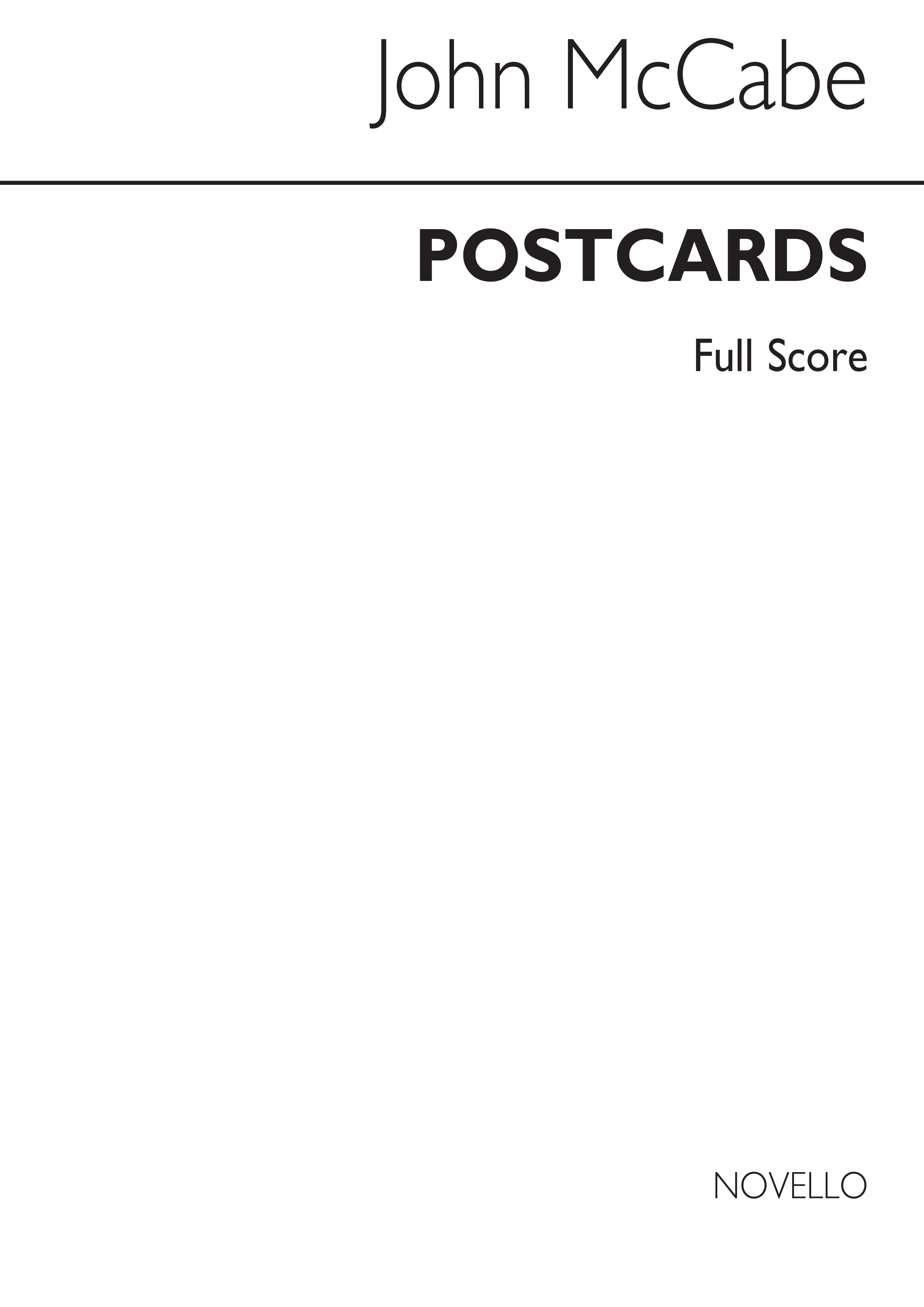 John McCabe: Postcards For Wind Quintet: Wind Ensemble: Score