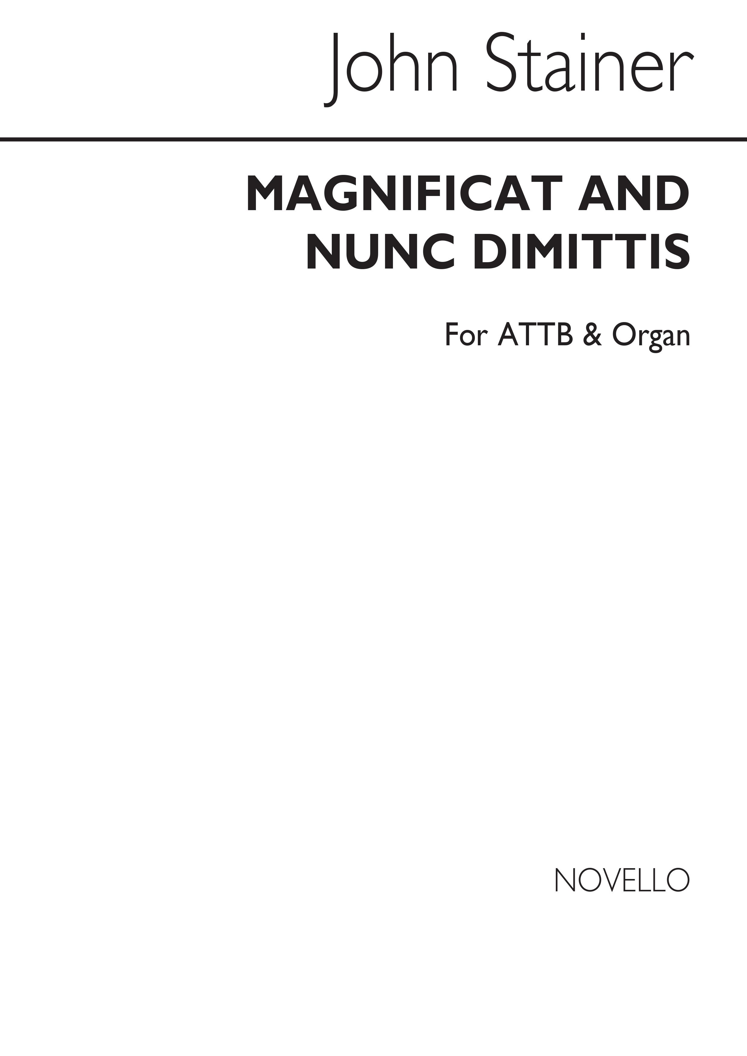 Sir John Stainer: Magnificat And Nunc Dimittis (Men's Voices): Men's Voices: