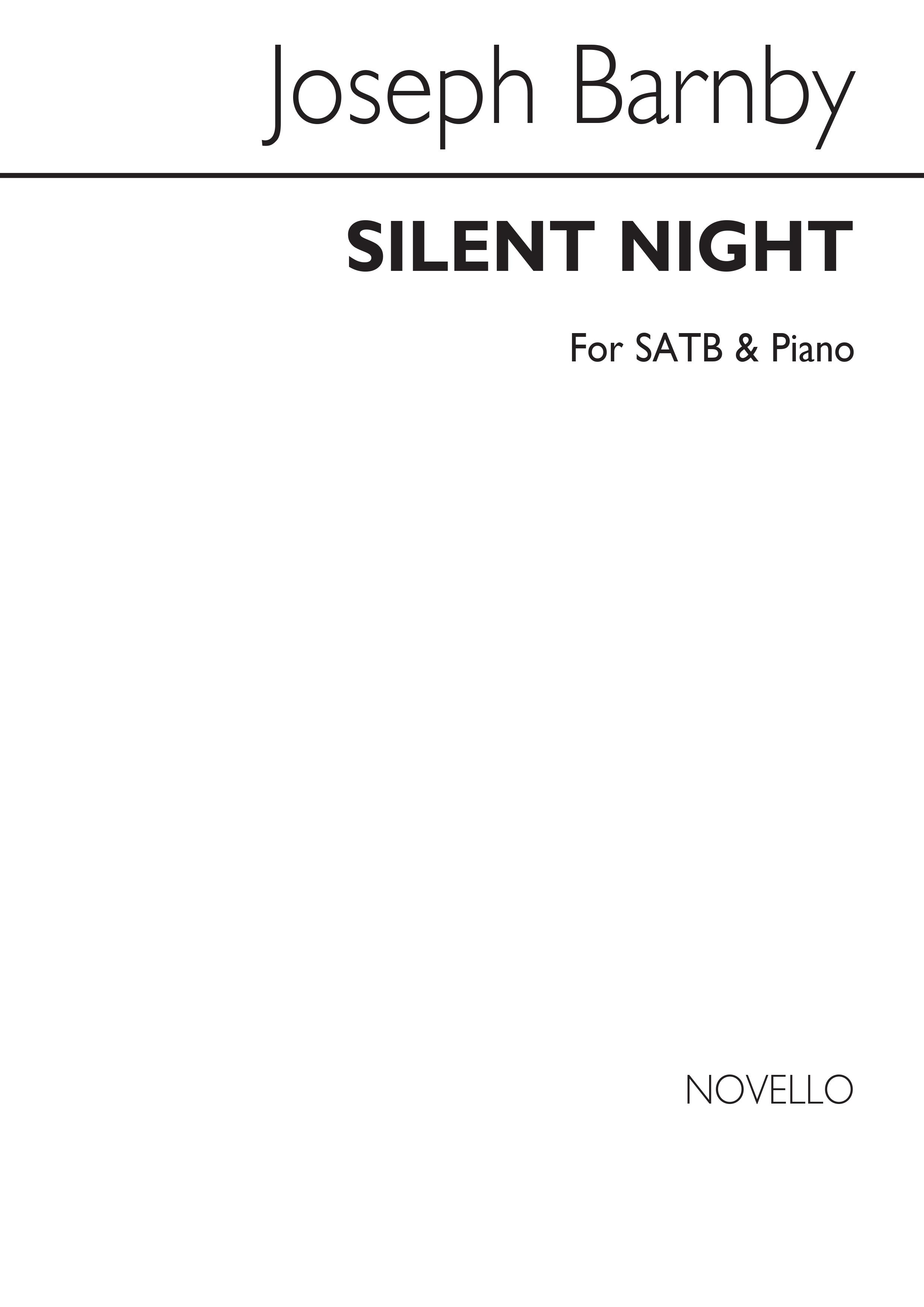 Joseph Barnby: Silent Night: SATB: Vocal Score