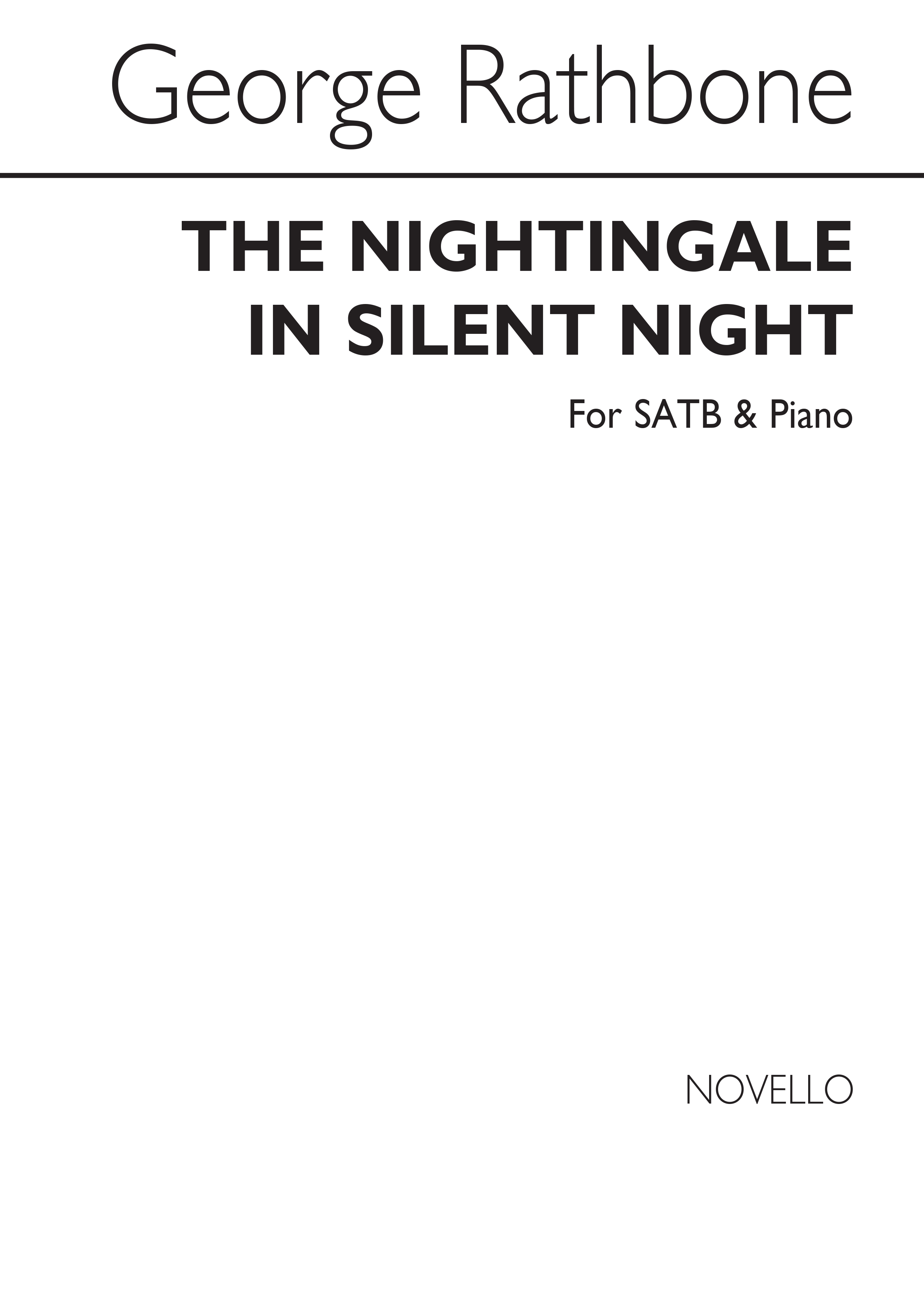 George Rathbone: The Nightingale In Silent Night: SATB: Vocal Score
