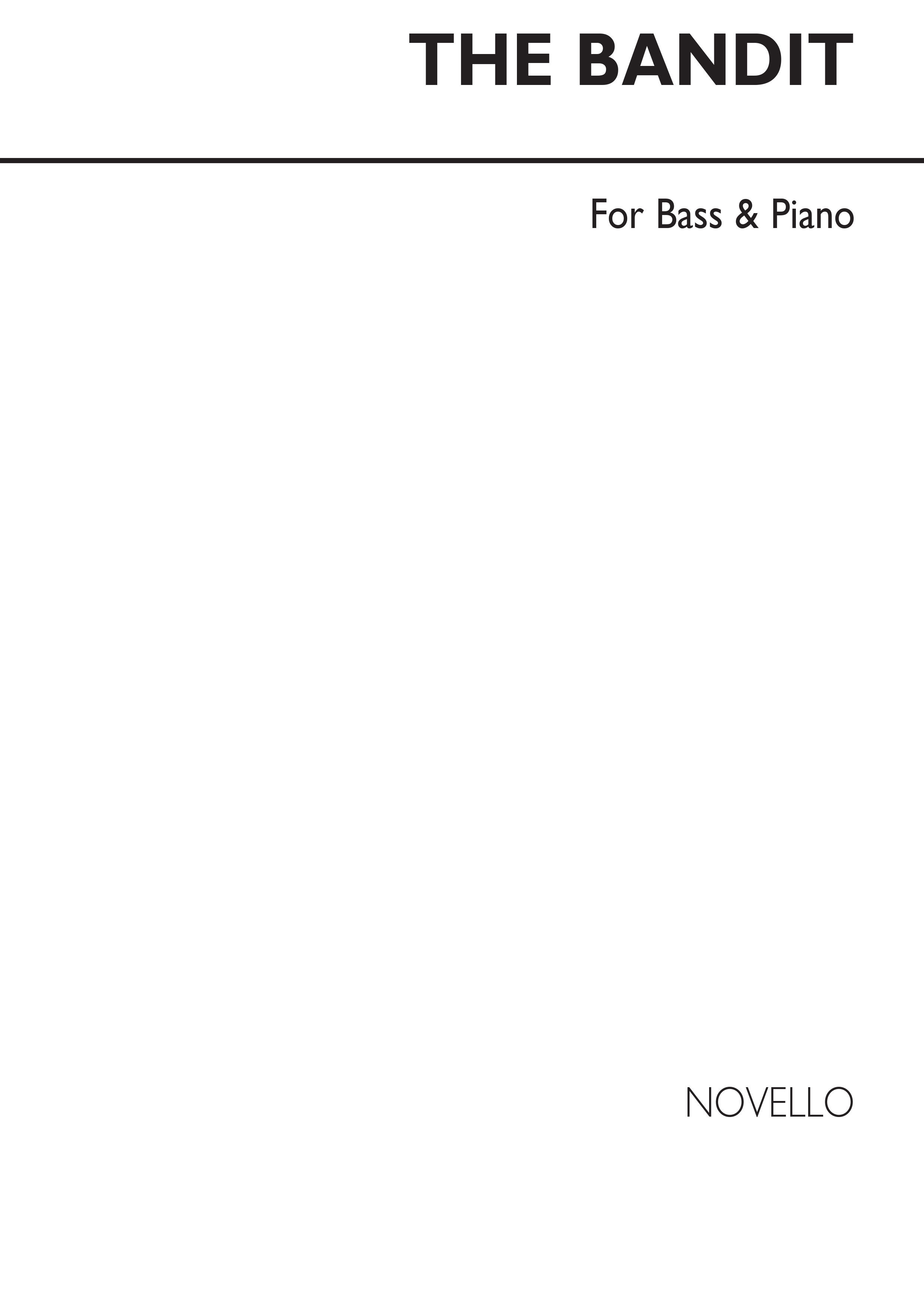 Anonymous The Bandit Tenor/Bass & Piano: SATB: Vocal Work