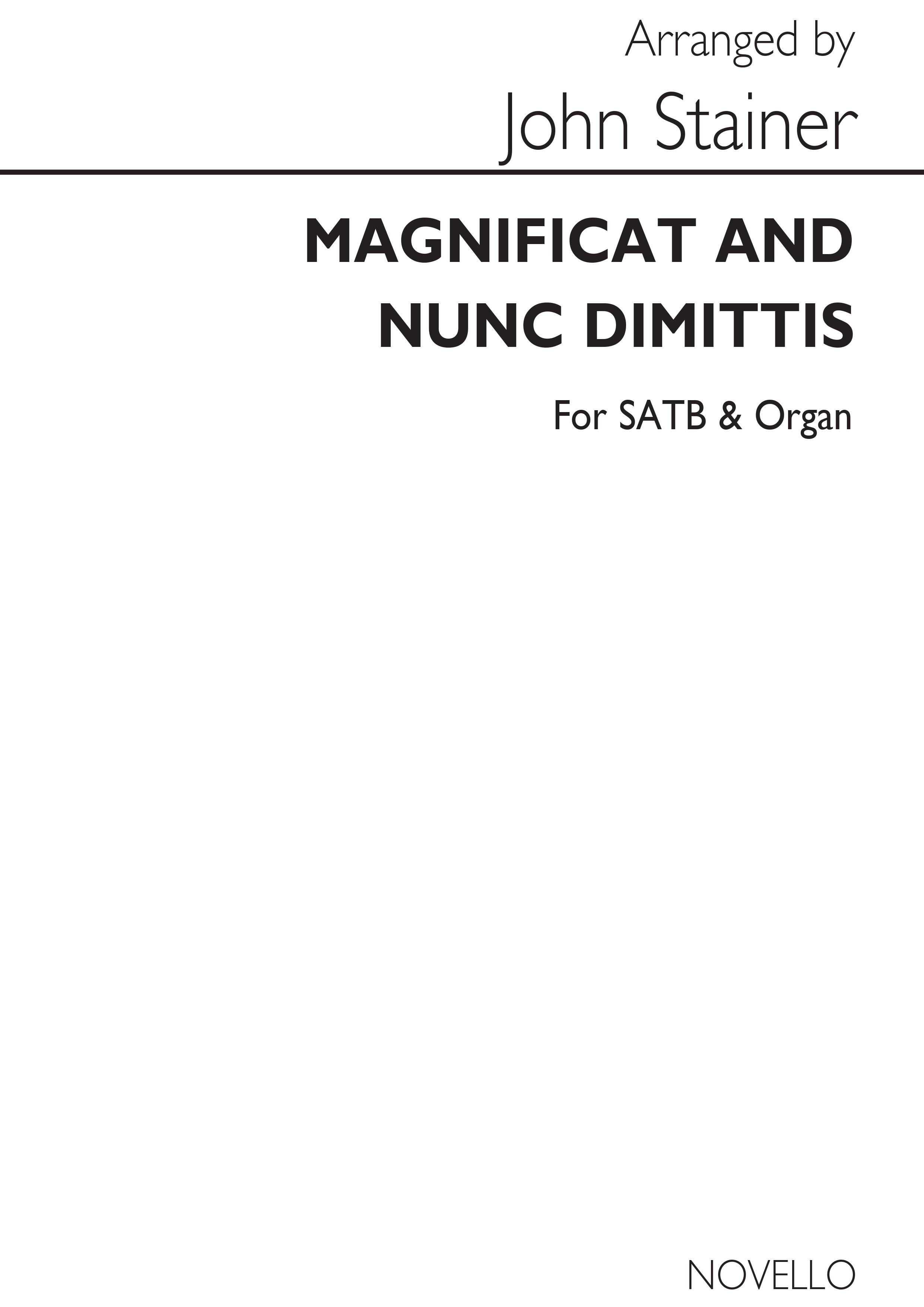 Sir John Stainer: Magnificat & Nunc Dimittis 4th Series: SATB: Vocal Score