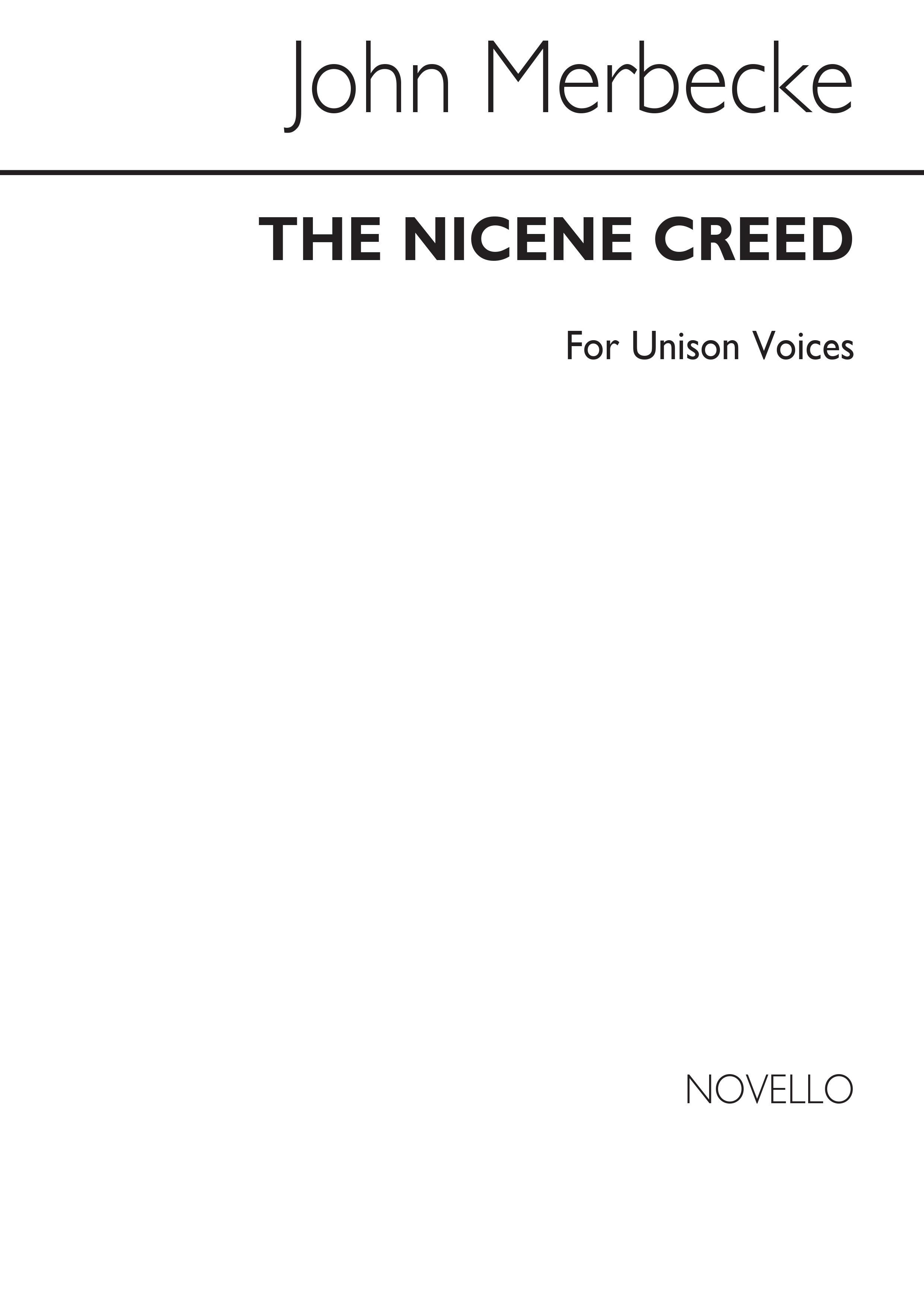 John Merbecke: The Nicene Creed Unison (Arranged By John Stainer): Unison