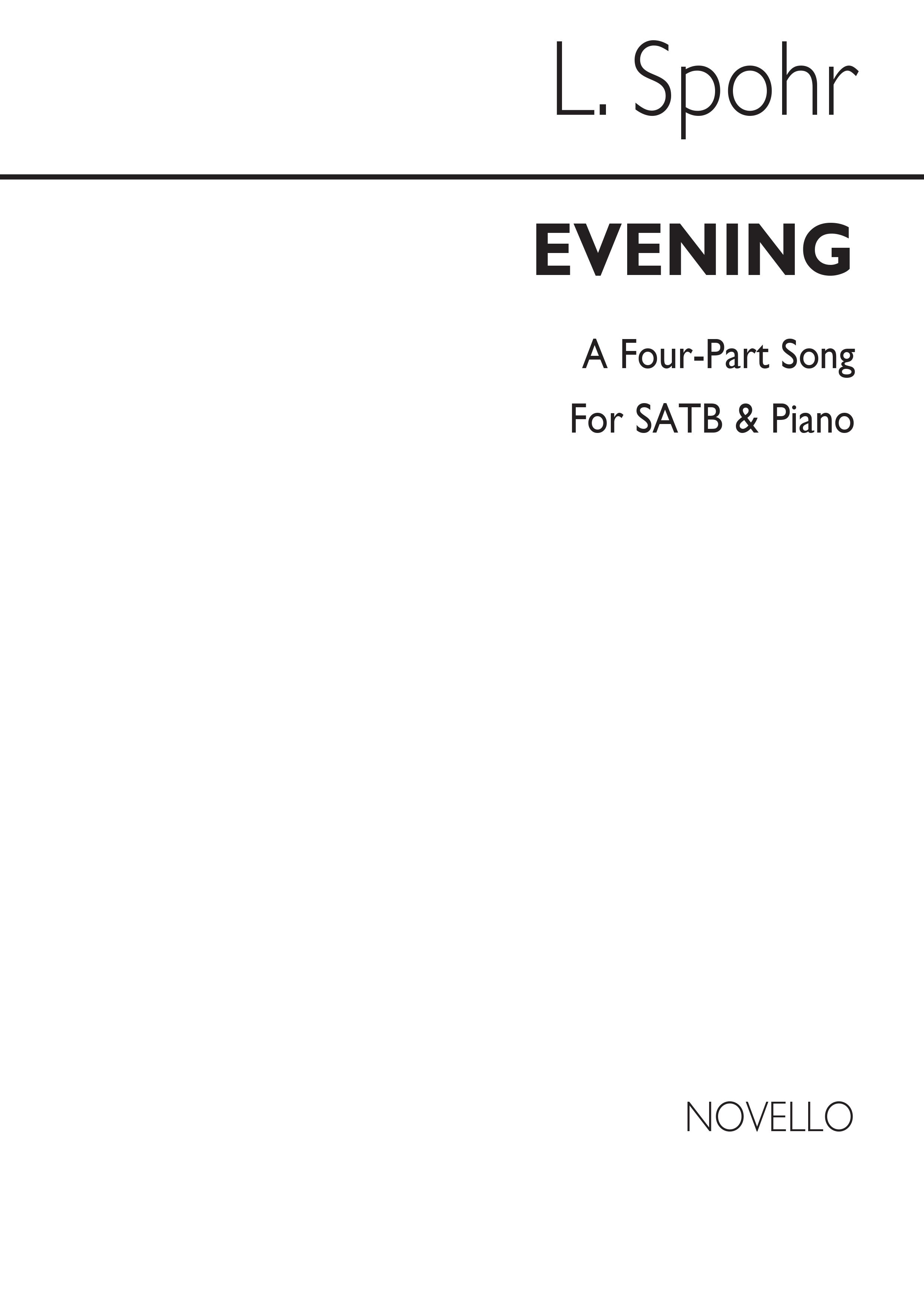 Louis Spohr: Evening Op 120 No 2: SATB: Vocal Score