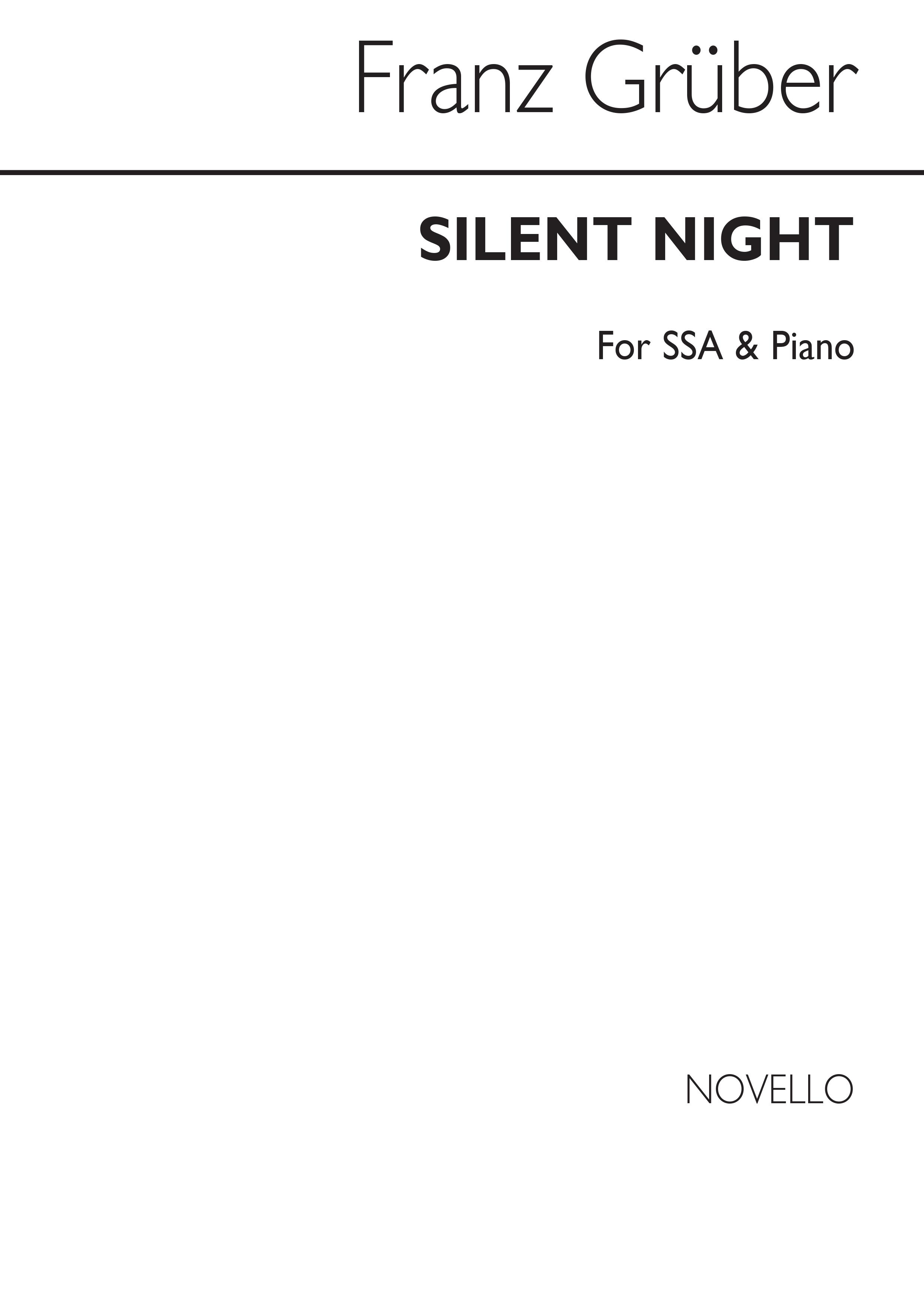 Franz Gruber: Silent Night: SSA: Vocal Score