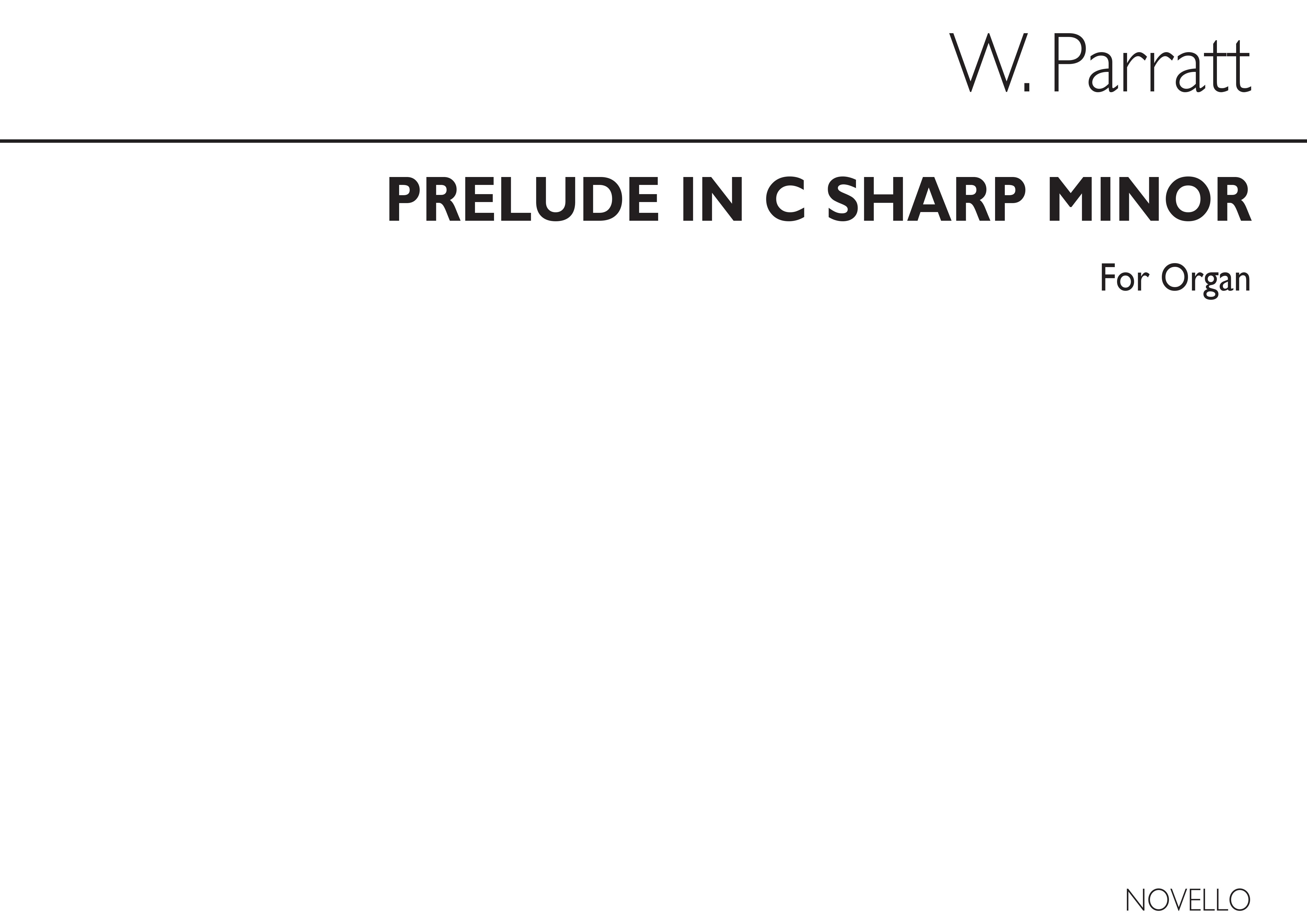 Walter Parratt: Prelude In C Sharp Minor For Organ: Organ: Instrumental Work