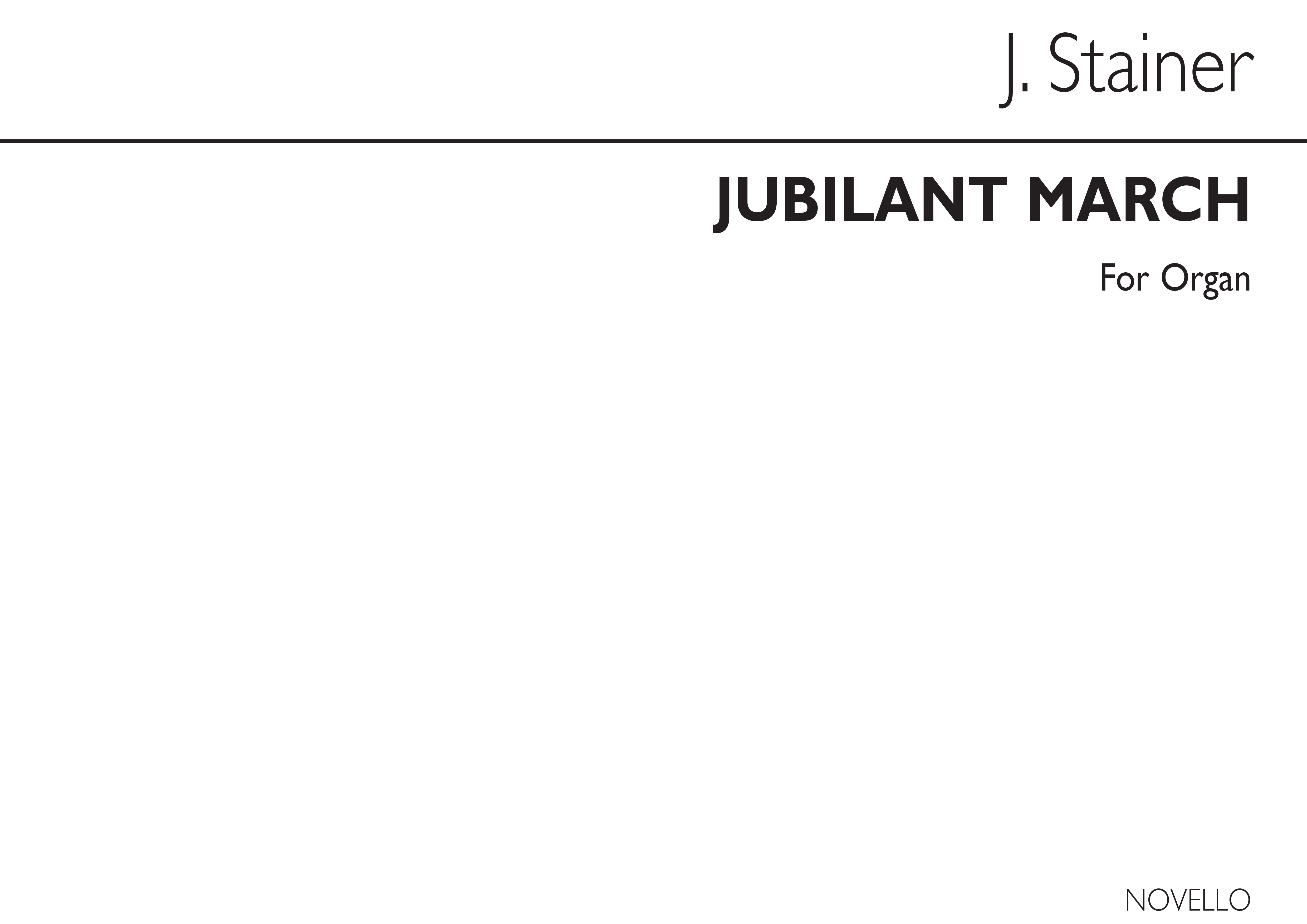 Sir John Stainer: Jubilant March For Organ: Organ: Instrumental Work