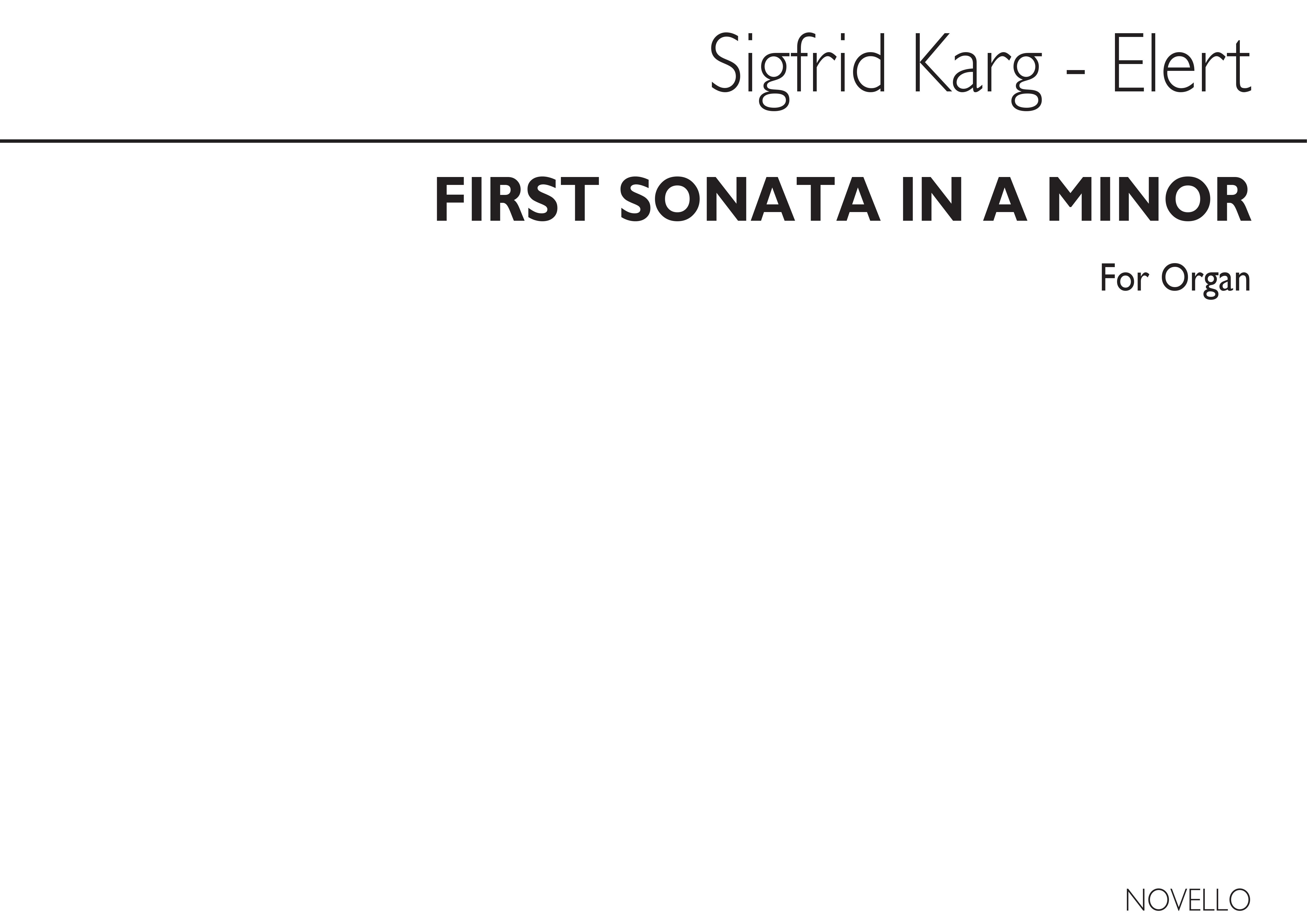 Sigfrid Karg-Elert: First Sonatina In A Minor: Organ: Instrumental Work