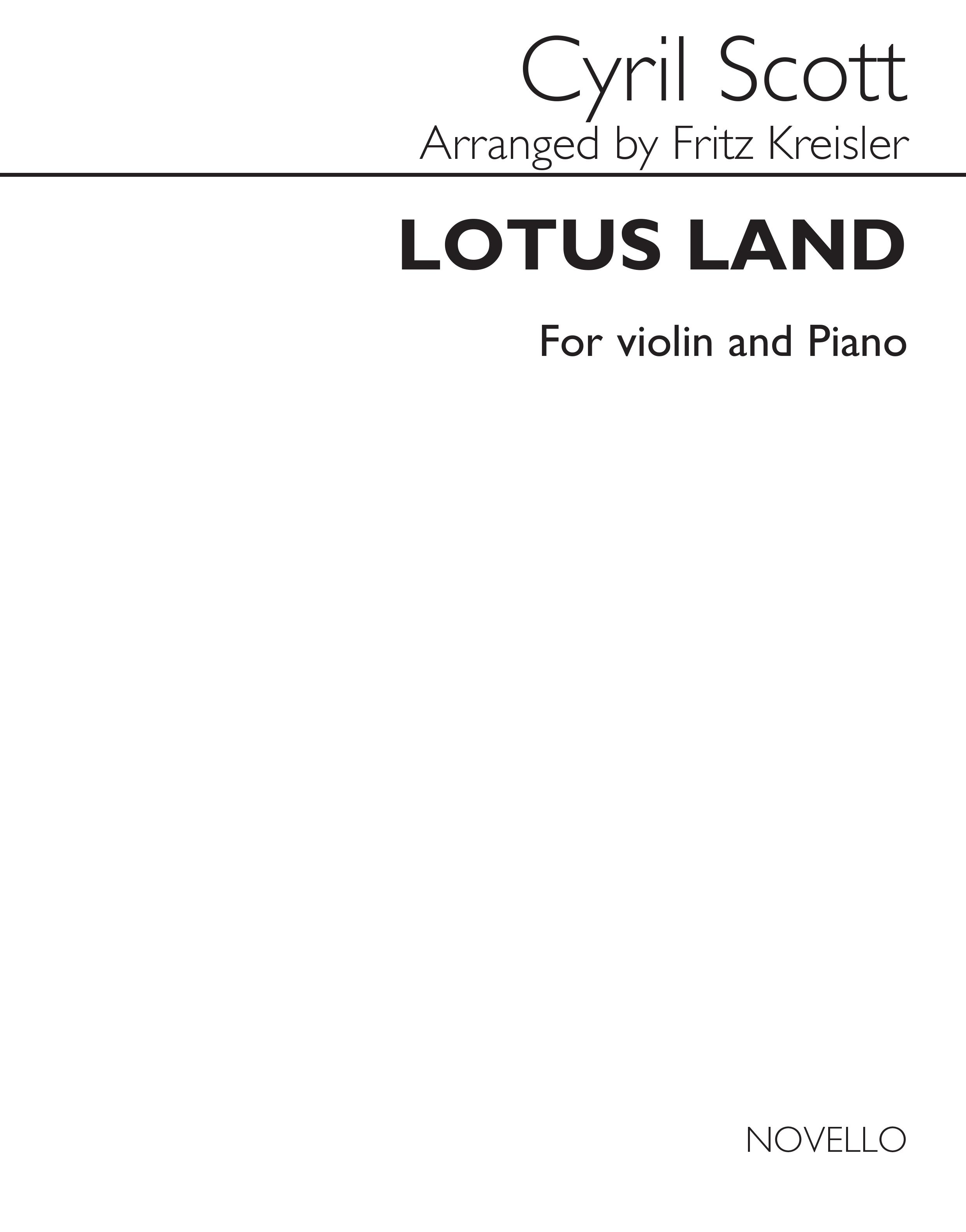 Cyril Scott: Lotus Land for Violin And Piano: Violin: Instrumental Work