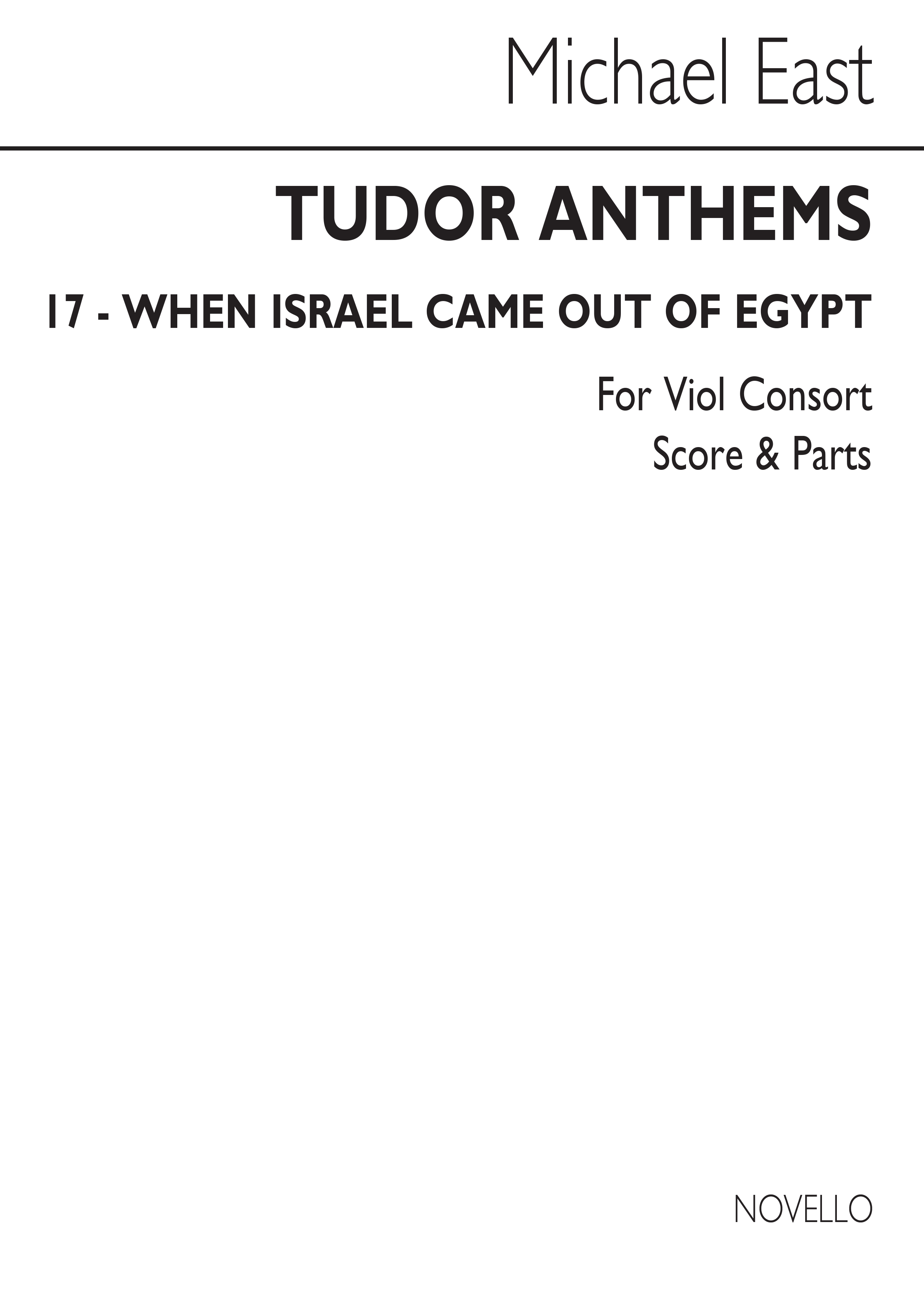 Michael East: When Israel Came Out Of Egypt: Viol Consort: Score and Parts