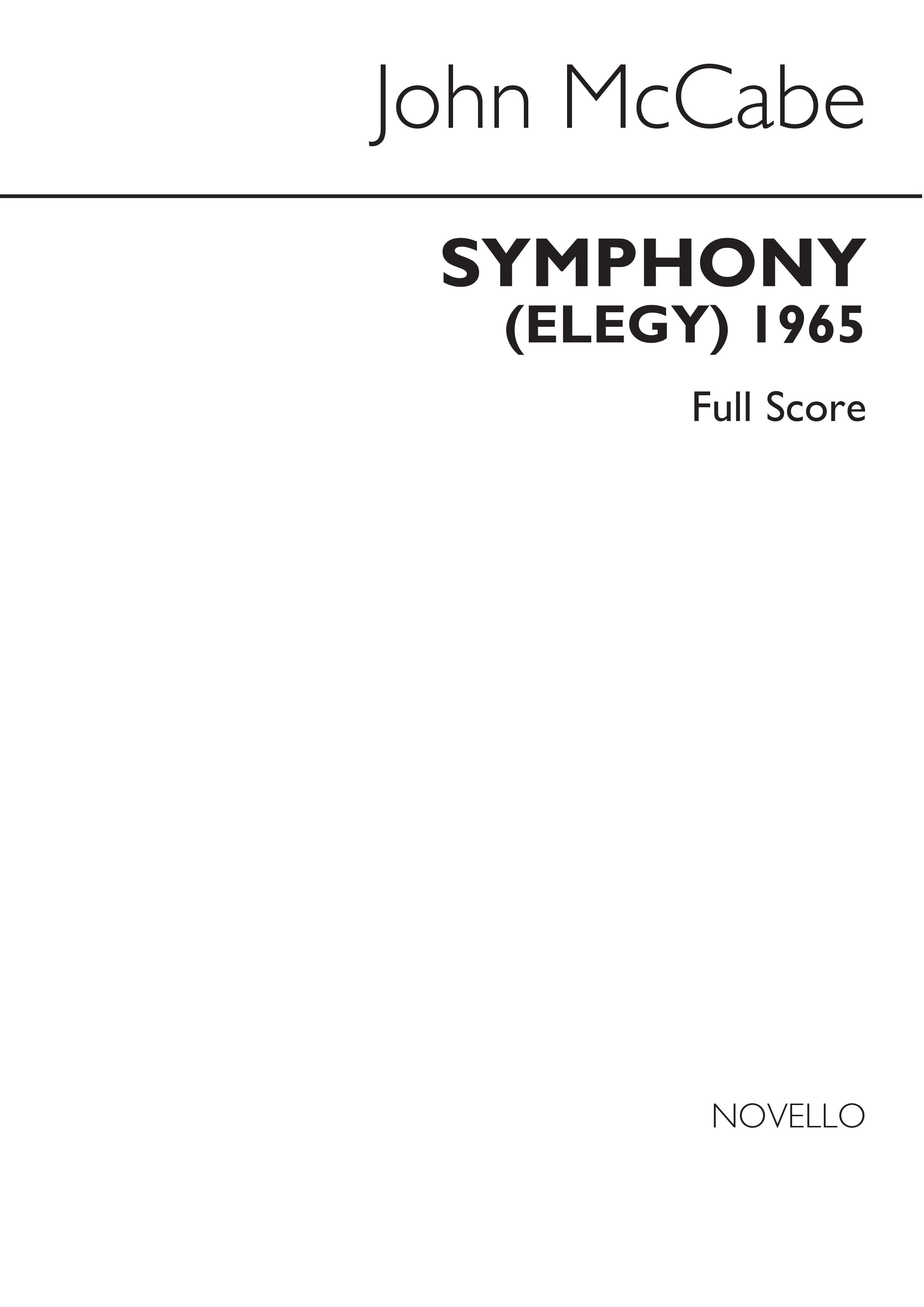 John McCabe: Symphony No.1 (Elegy): Orchestra: Study Score