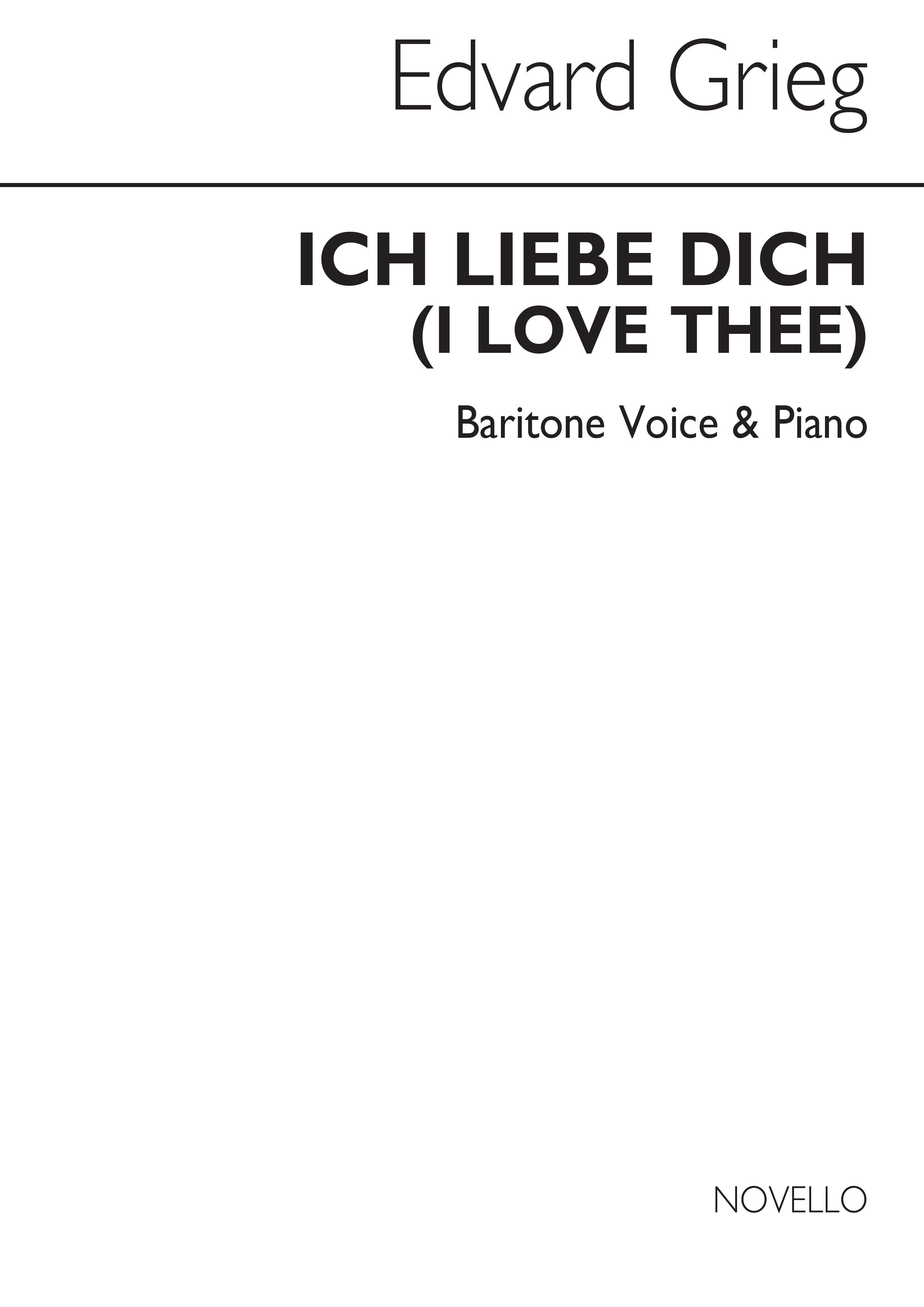 Edvard Grieg: Ich Liebe Dich In Bb: Vocal Work