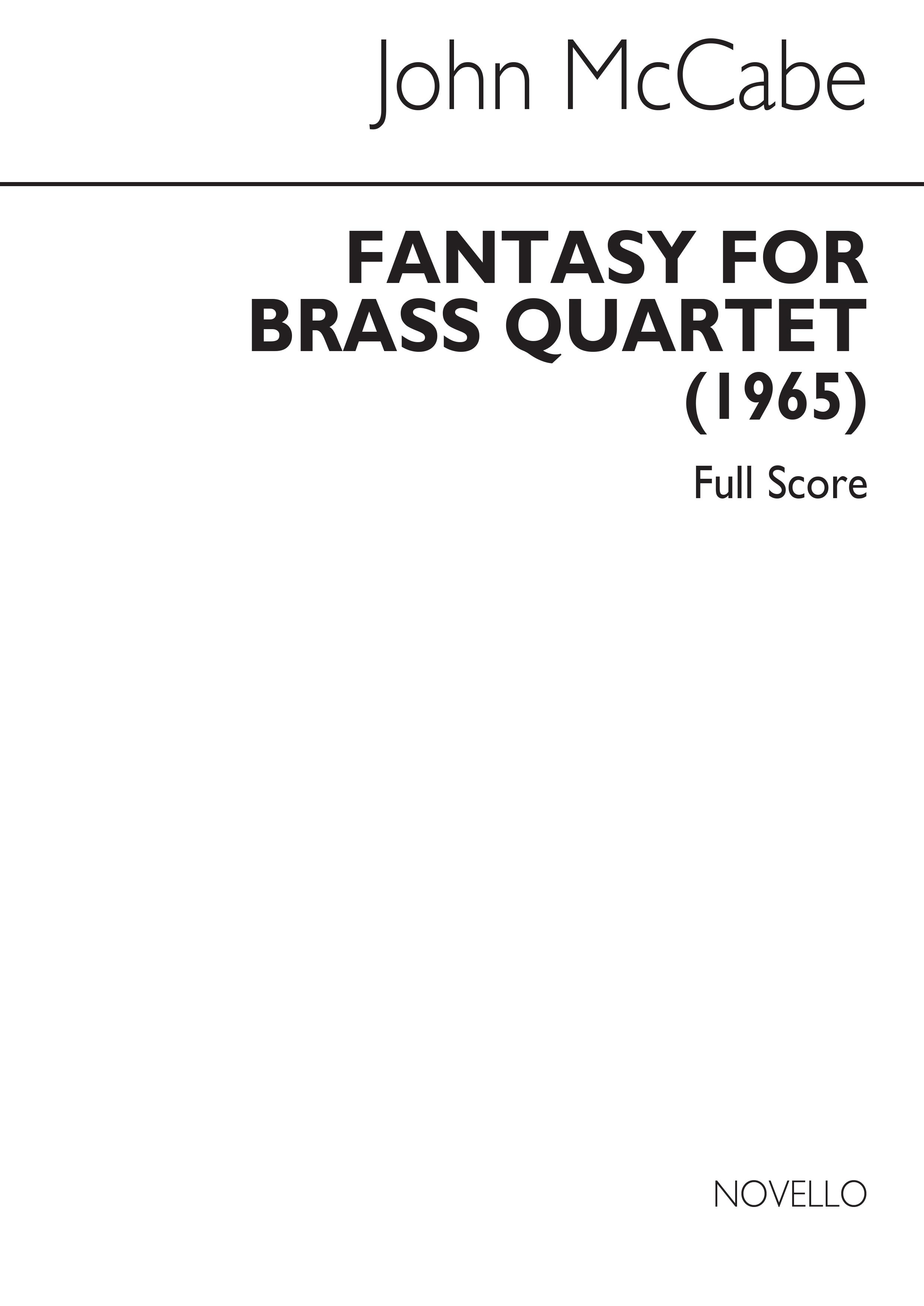 John McCabe: John McCabe: Fantasy For Brass Quartet Op.35: Brass Ensemble: Score