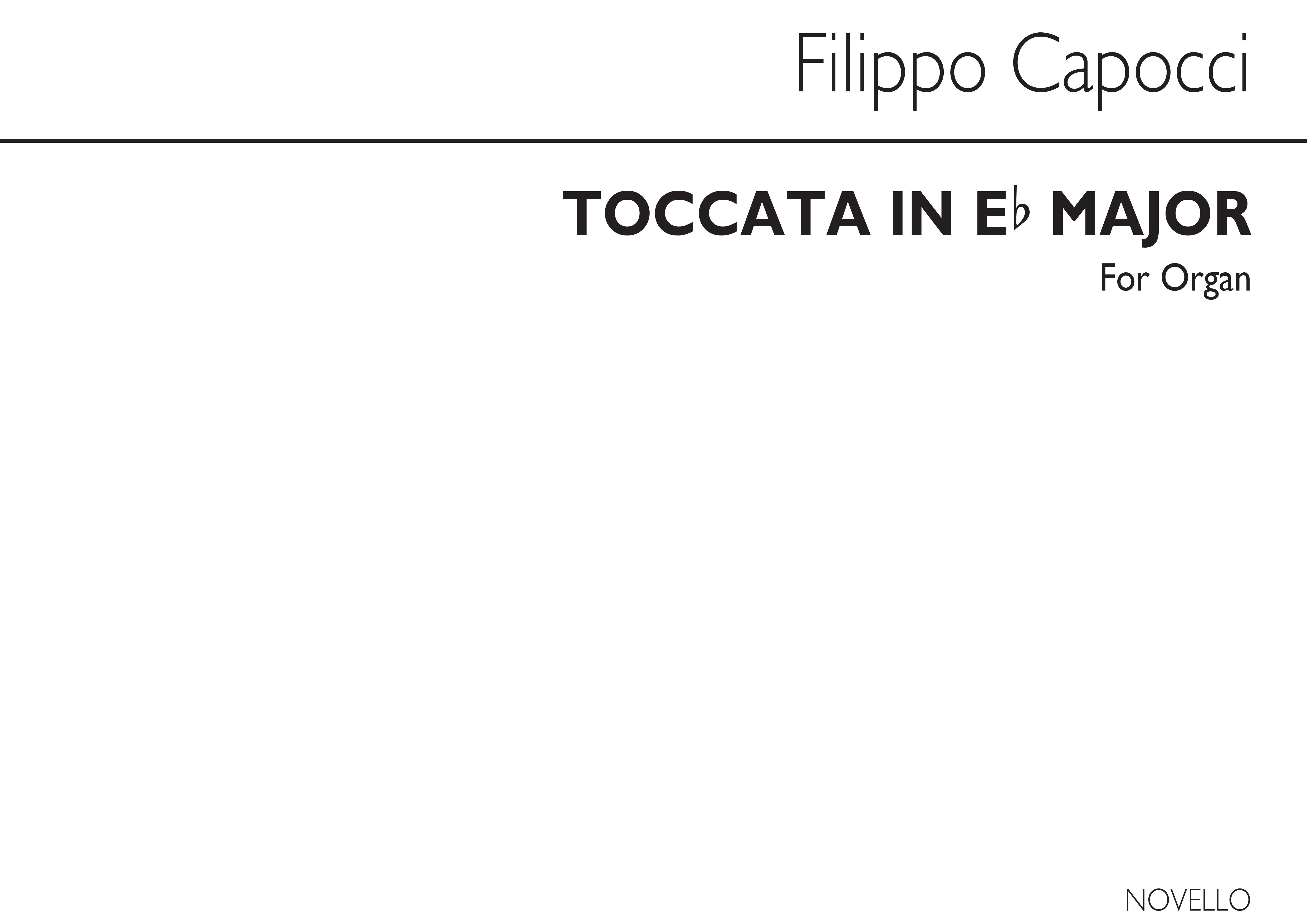 Fillipo Capocci: Toccata In E Flat Major (Organ): Organ: Instrumental Work