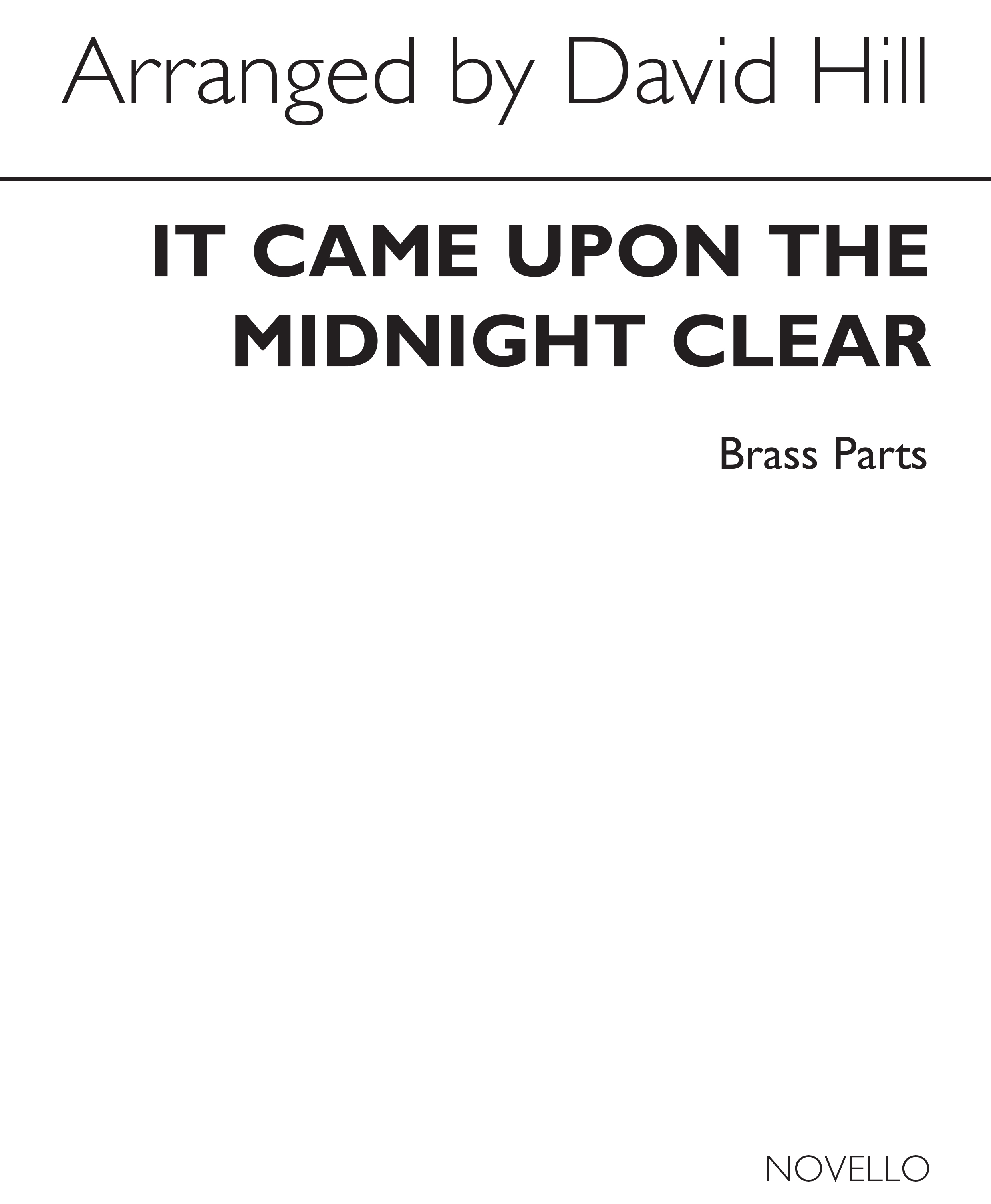 It Came Upon The Midnight Clear (Brass Parts): Brass Ensemble: Parts