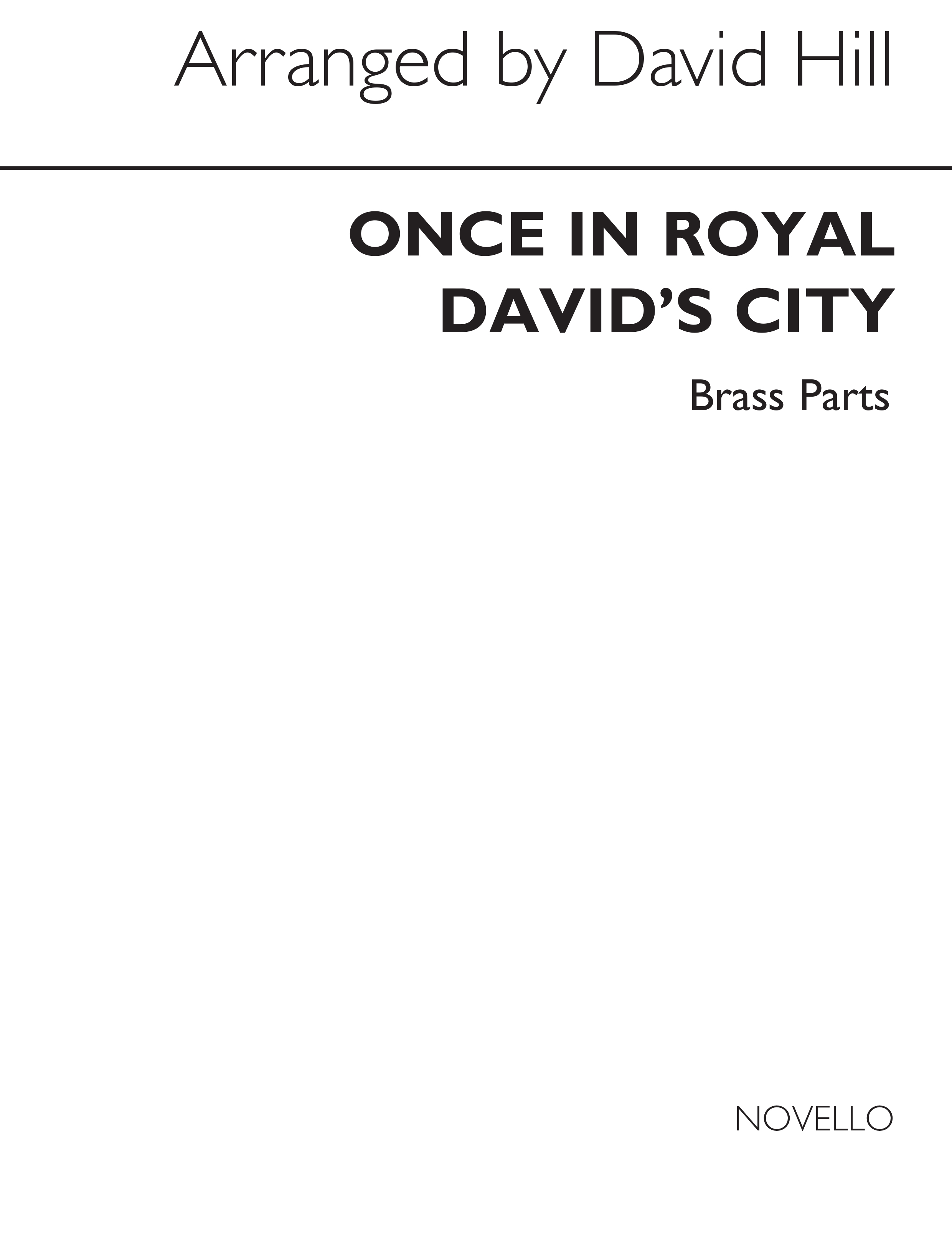 Once In Royal David's City (Set of Parts): Brass Ensemble: Instrumental Work