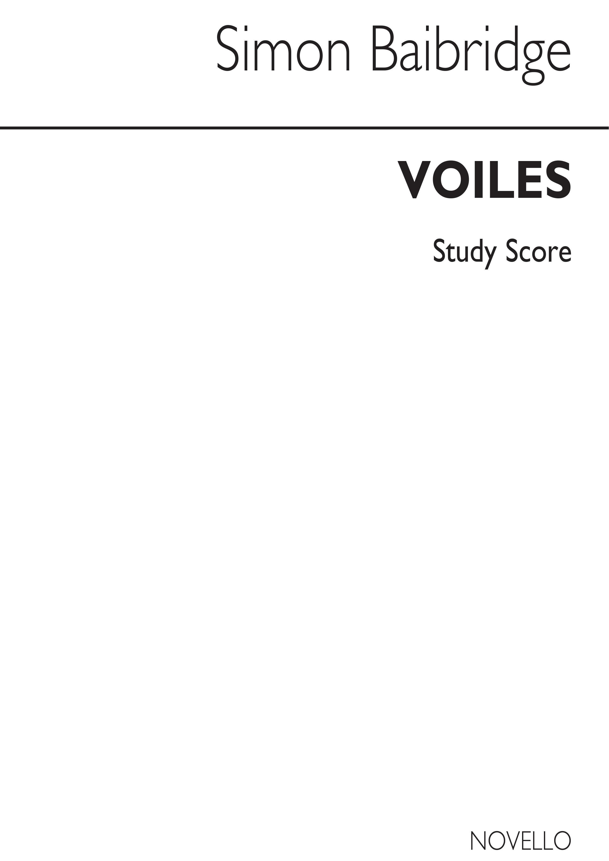 Simon Bainbridge: Voiles: Bassoon: Score