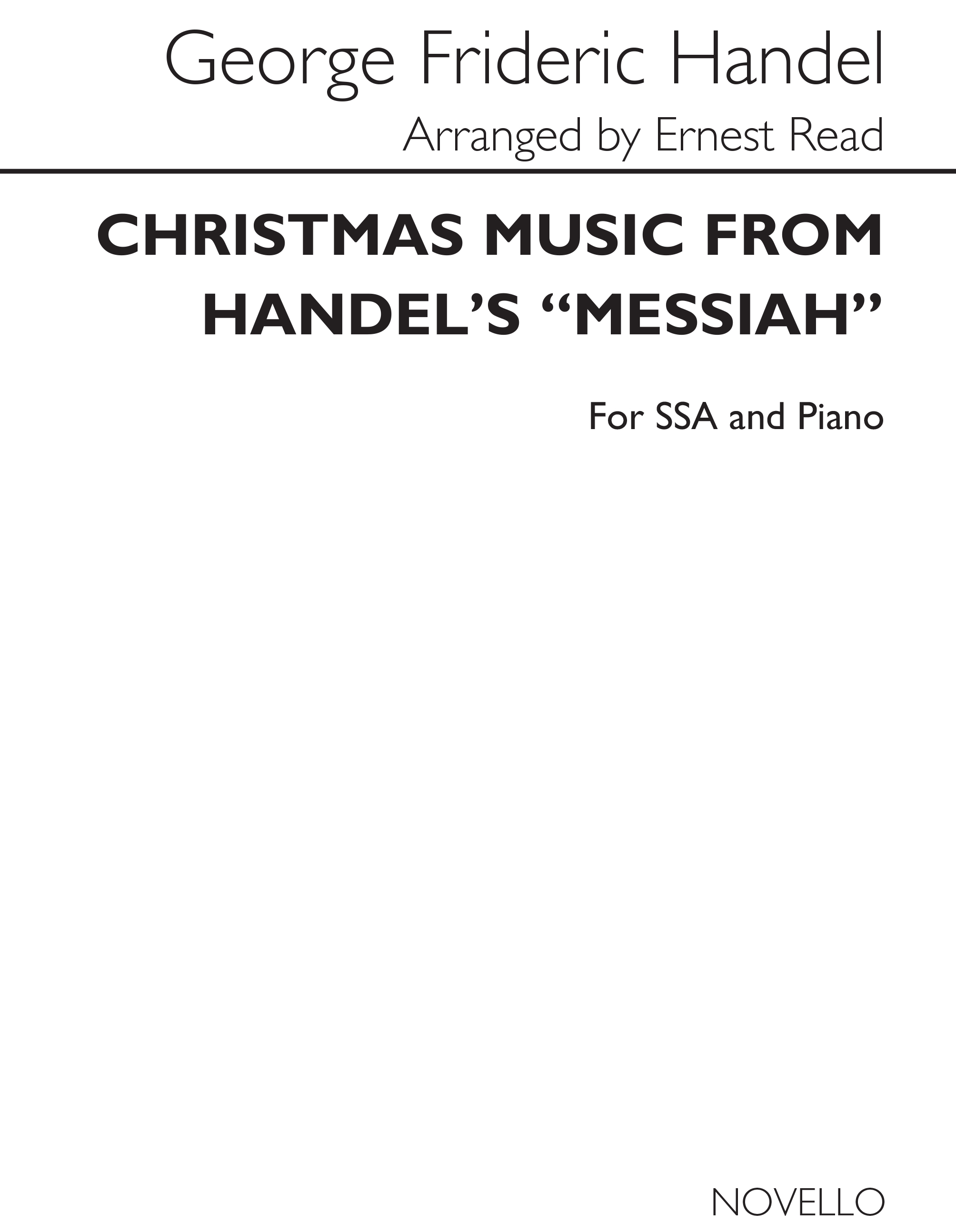 Georg Friedrich Händel: And The Glory Of The Lord: SSA: Vocal Score