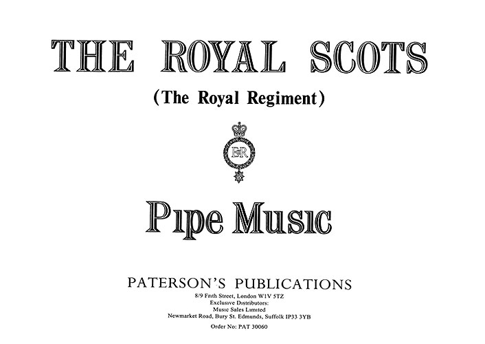 The Royal Scots (The Royal Regiment) Pipe Music: Bagpipes: Instrumental Album