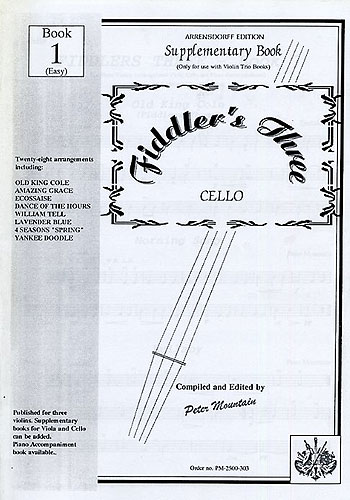Peter Mountain: Fiddler's Three Cello Supplementary Book 1: Cello: Instrumental