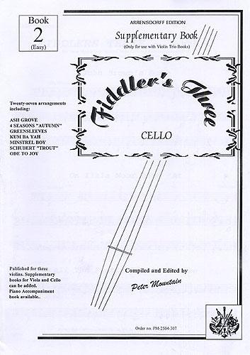 Peter Mountain: Fiddler's Three: Cello Supplementary Book 2: Cello: Instrumental