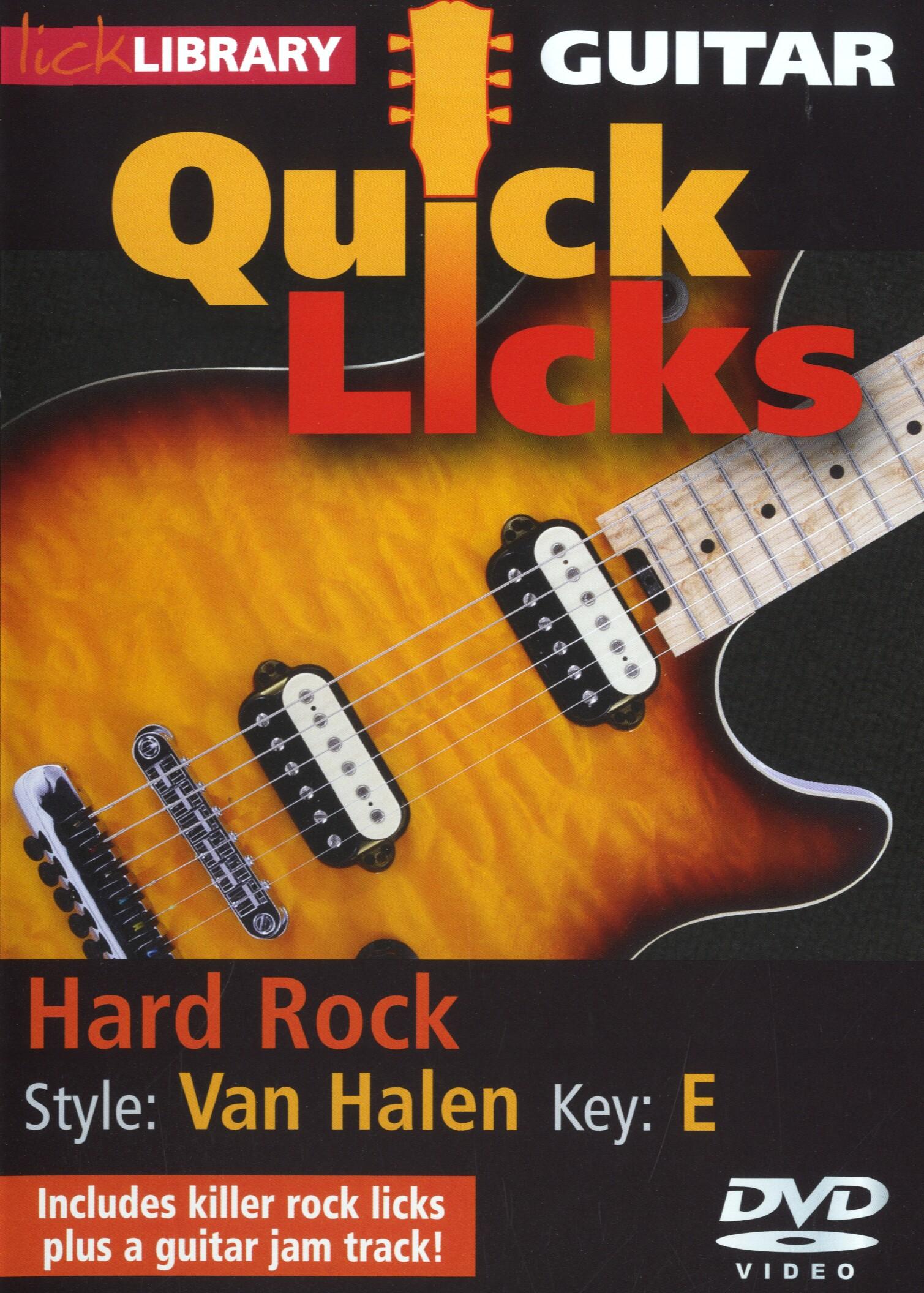 Eddie Van Halen: Quick Licks - Van Halen Hard Rock: Guitar: Instrumental Tutor