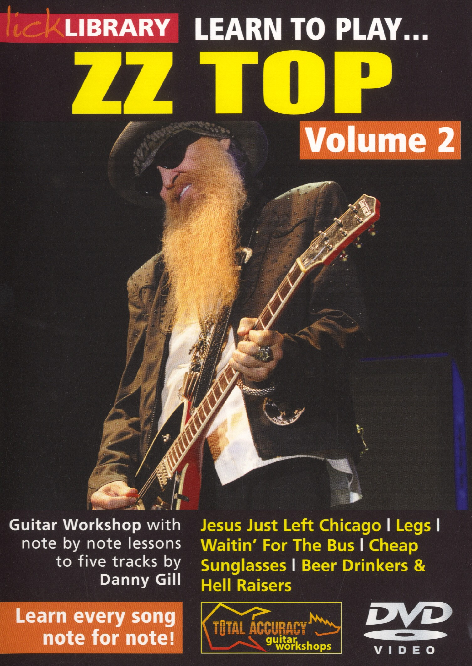 Danny Gill: Learn To Play ZZ Top - Volume 2: Guitar: Instrumental Tutor