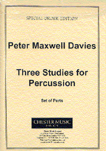 Peter Maxwell Davies: Three Studies For Percussion Parts: Percussion: Study