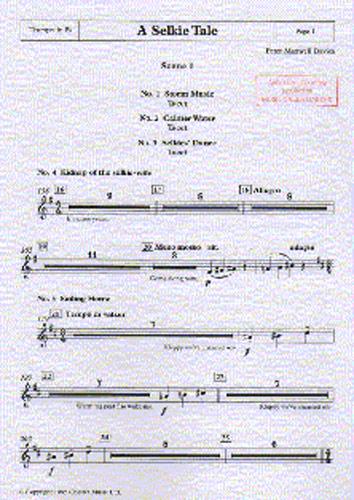Peter Maxwell Davies: A Selkie Tale - Trumpet: Trumpet: Instrumental Work