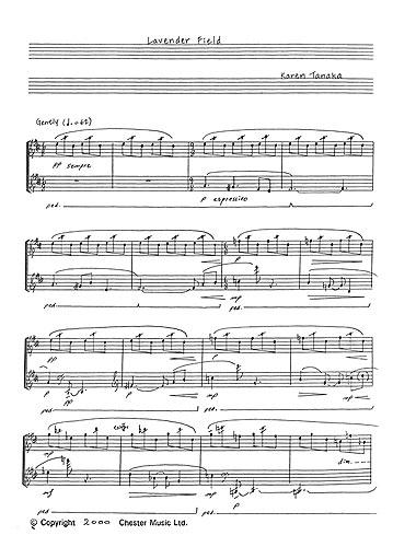Karen Tanaka: Lavender Field: Piano: Instrumental Work
