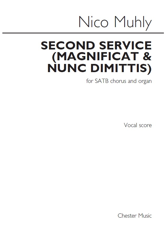 Nico Muhly: Second Service: SATB: Vocal Score