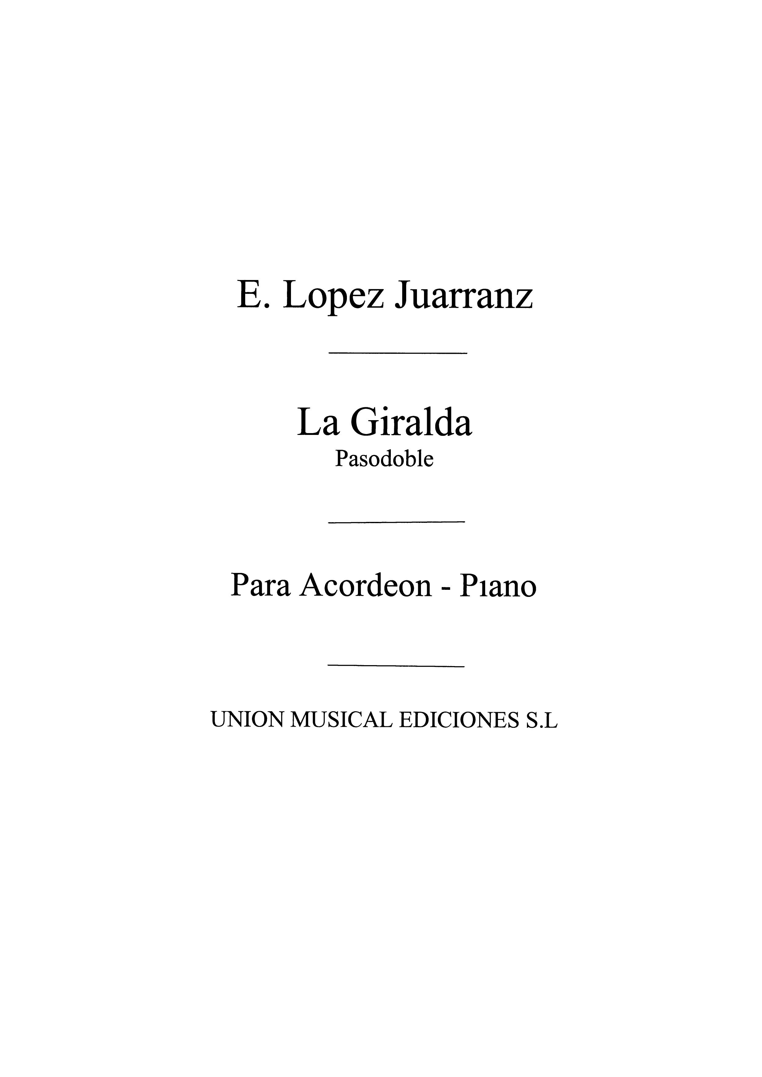 Eduardo Lopez Juarranz: La Giralda  Pasodoble: Accordion: Instrumental Work