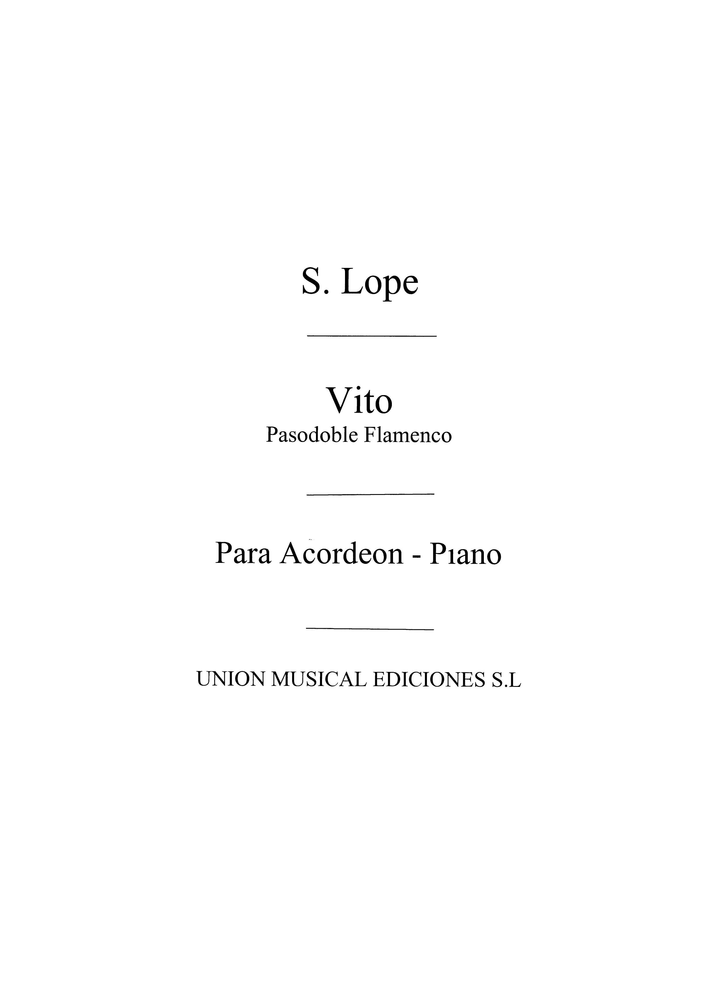 Santiago Lope: Vito  Pasodoble: Accordion: Instrumental Work
