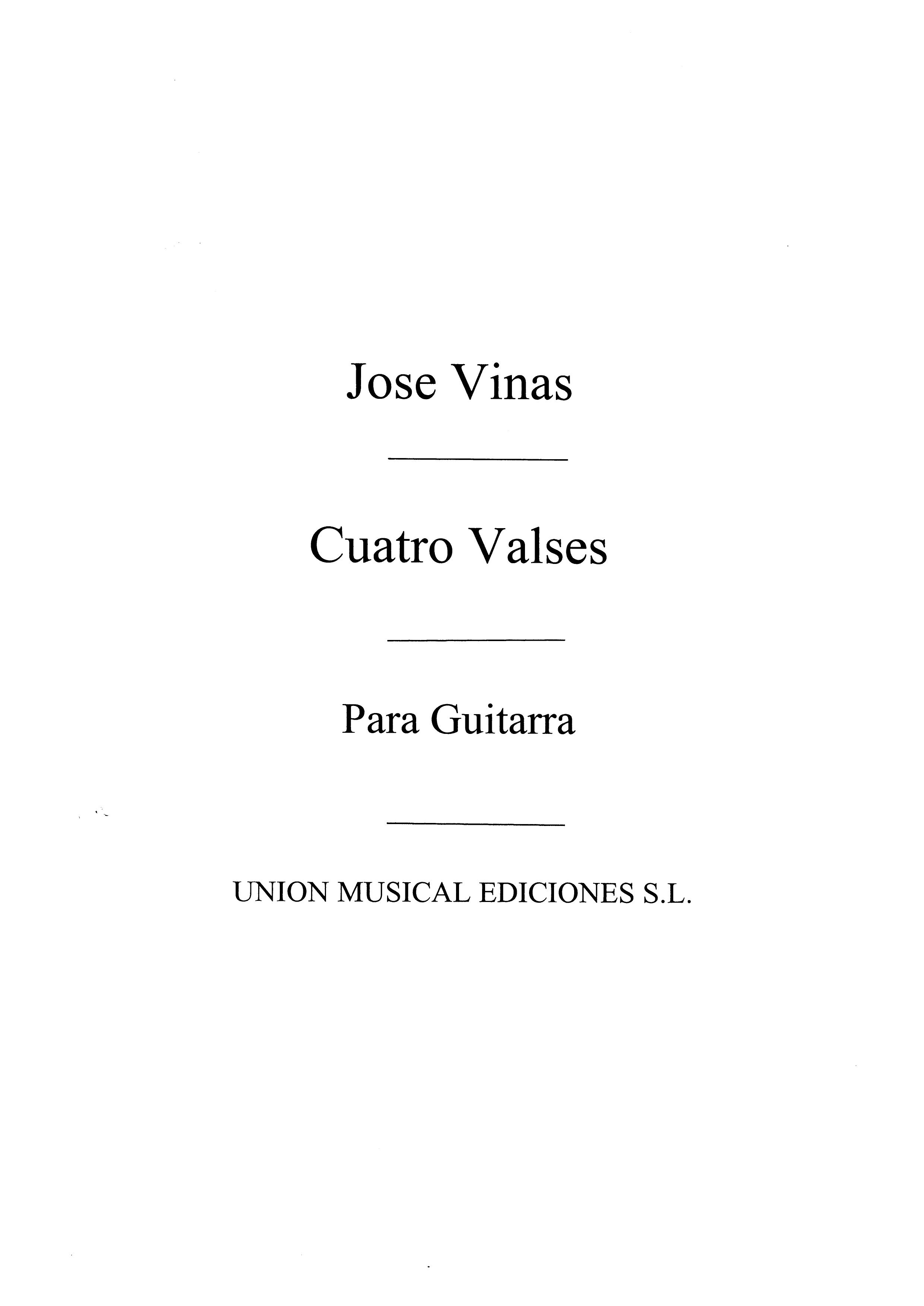 José Vinas: Cuatro Valses: Guitar: Instrumental Work