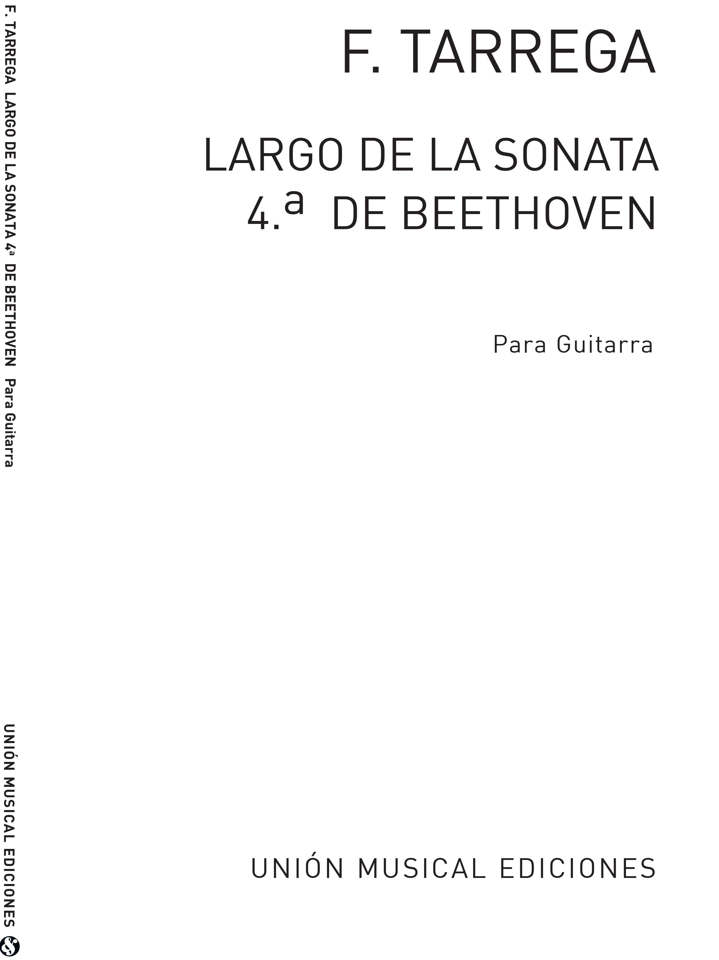 Ludwig van Beethoven: Largo De La Sonata No.4 Op.7: Guitar