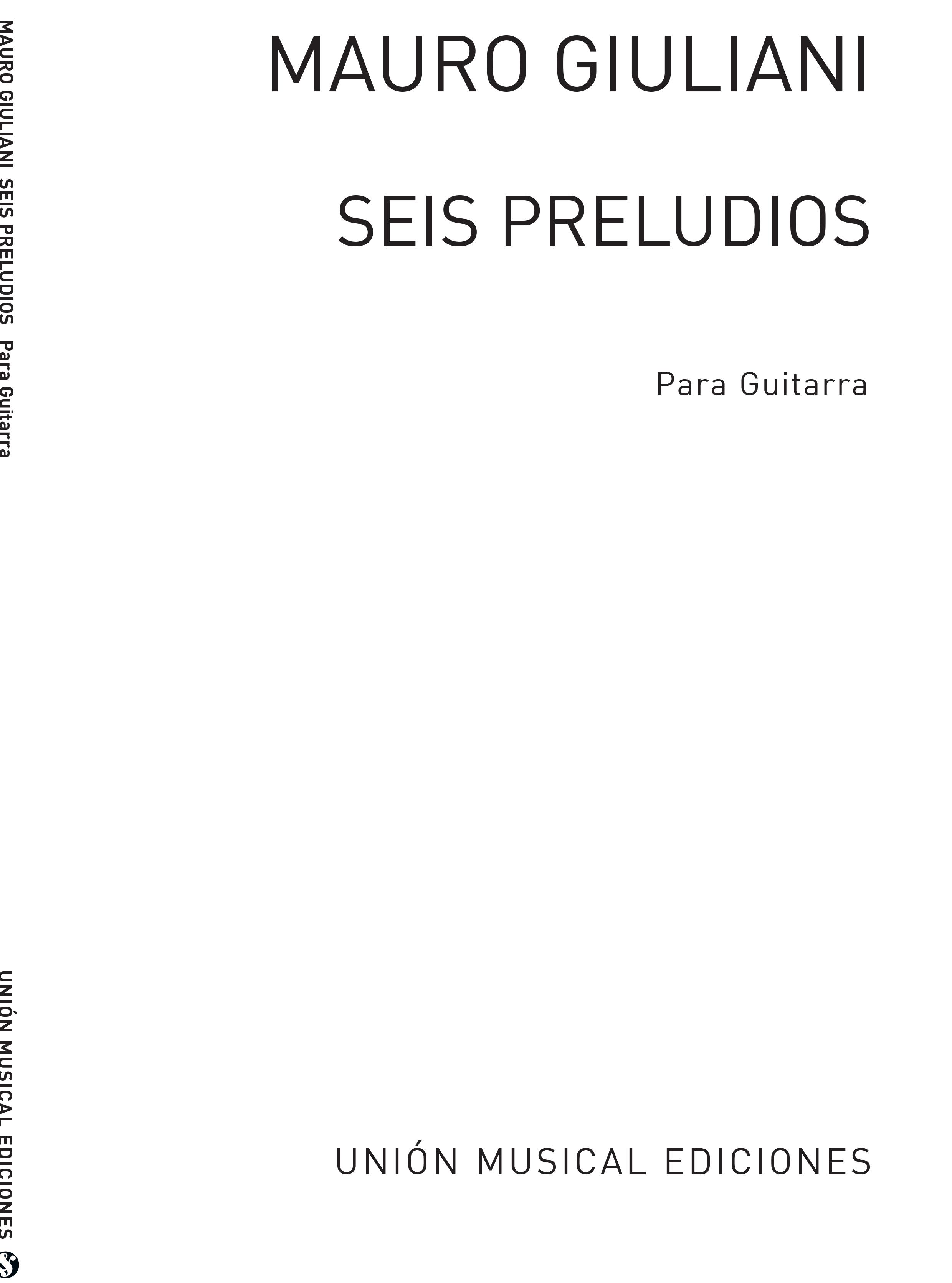 Mauro Giuliani: Seis Preludios Para Gitarra Op.83: Guitar: Instrumental Album