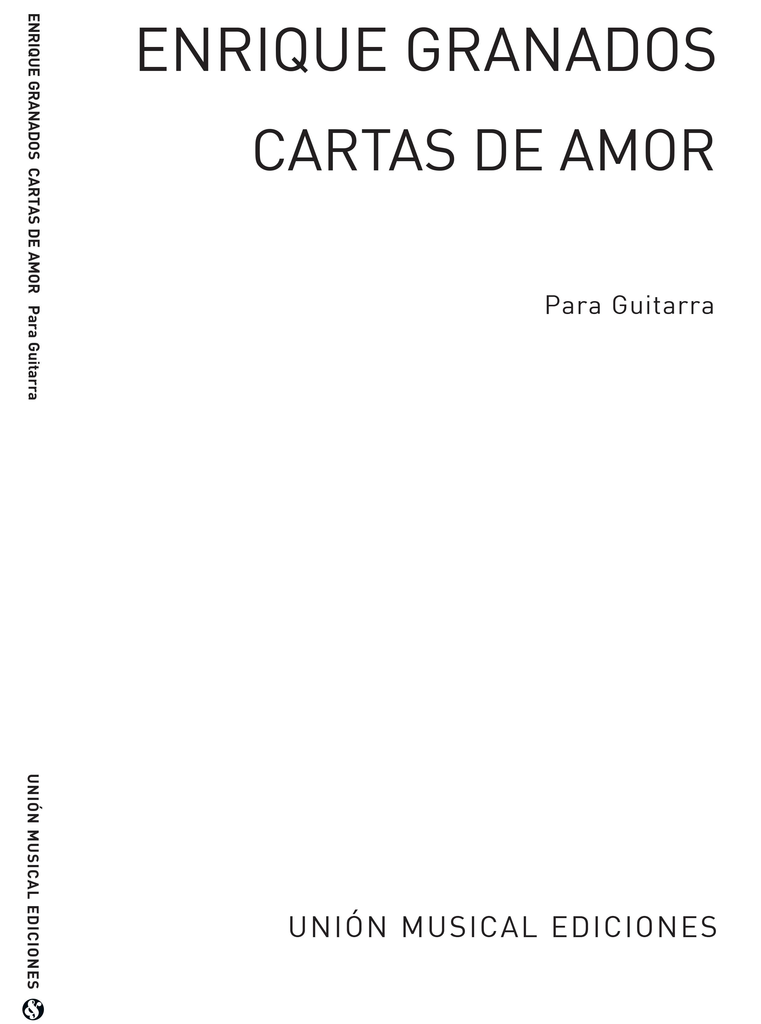 Enrique Granados: Cartas De Amor Valses Intimos Op.44: Guitar: Instrumental Work