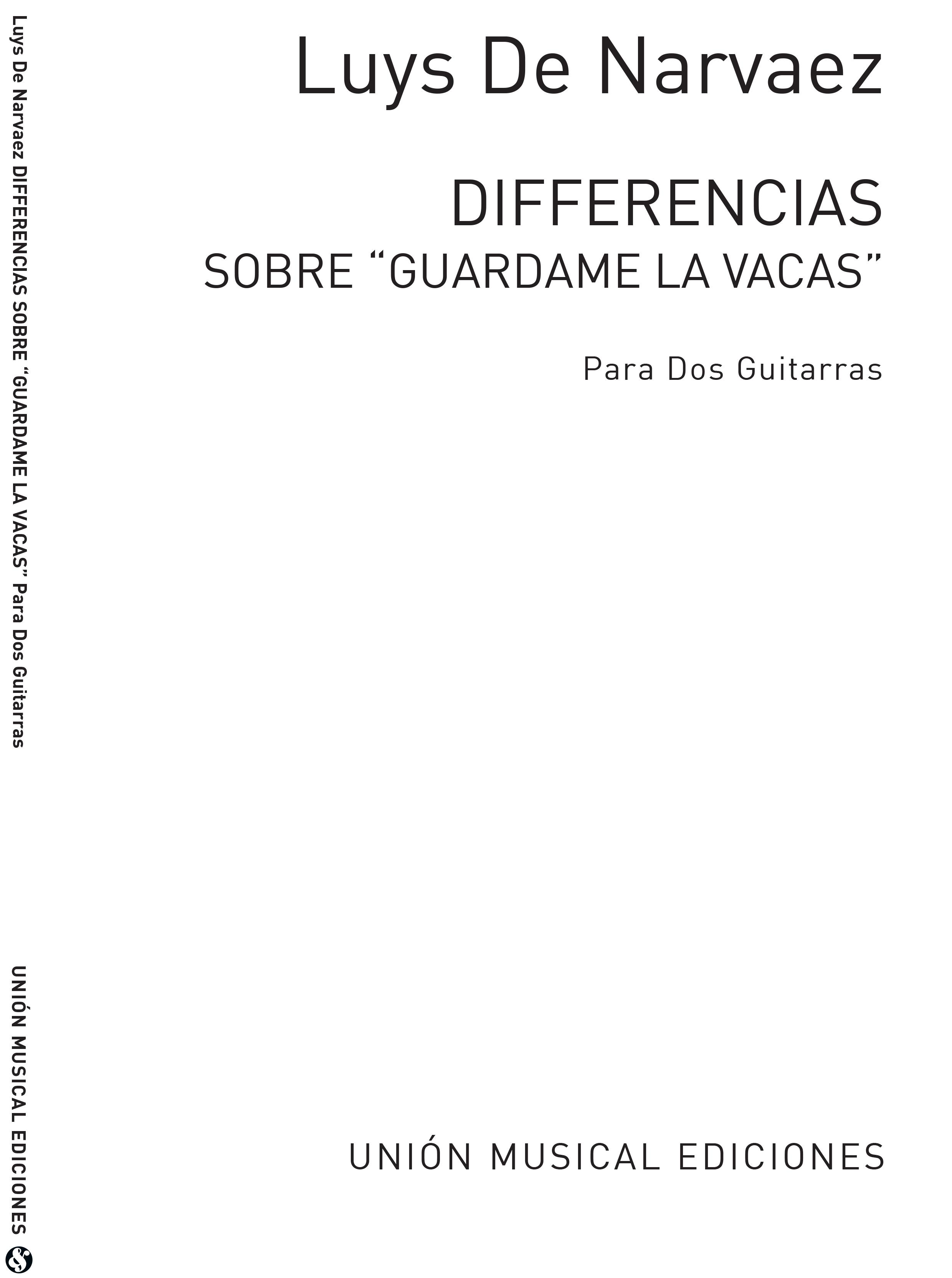 José-Luis Narvaez: Diferencias Sobre Guardame Las Vacas: Guitar: Instrumental
