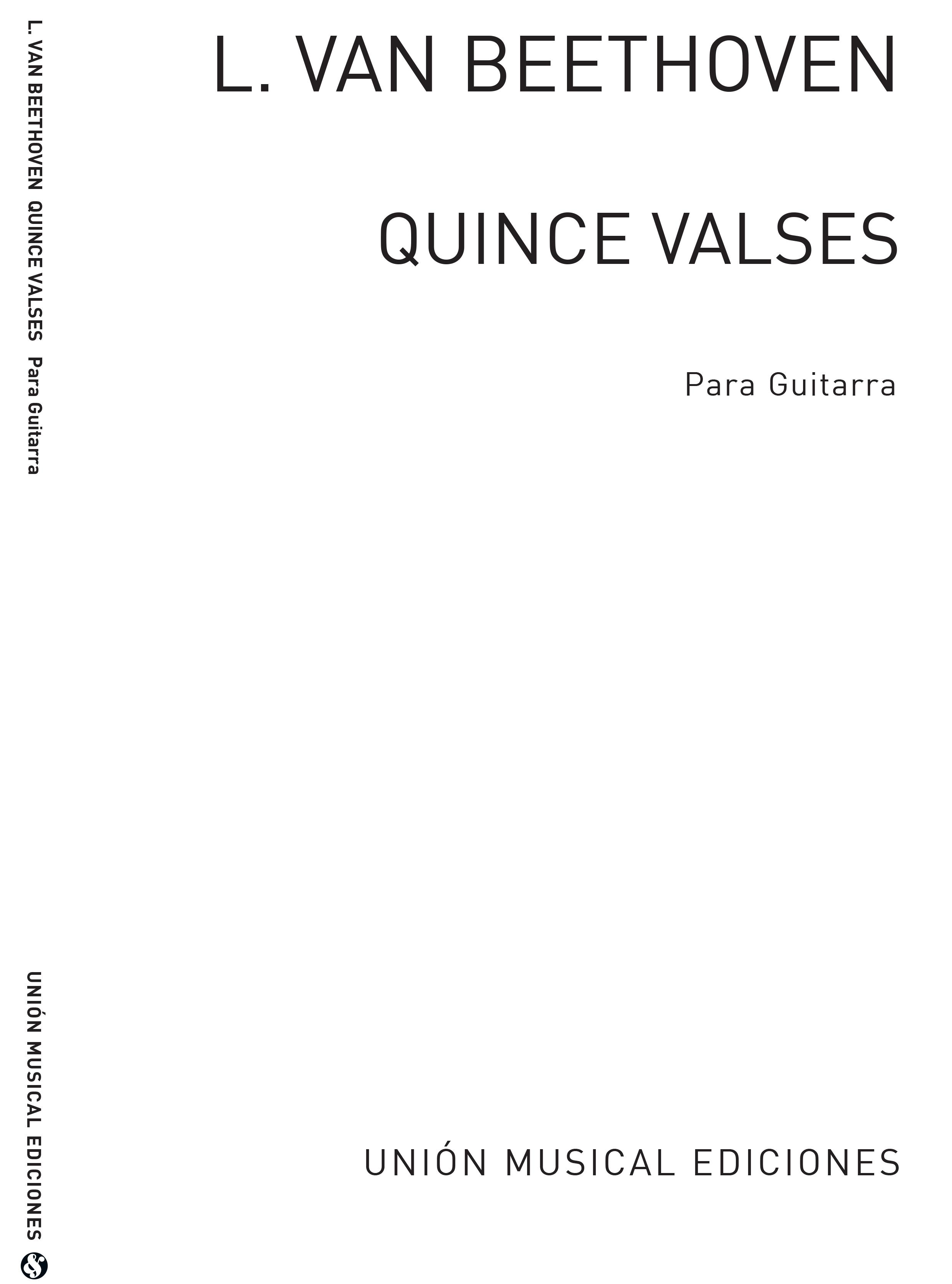 Ludwig van Beethoven: Quince Valses: Guitar: Instrumental Work
