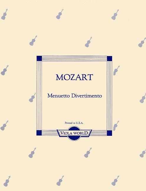 Wolfgang Amadeus Mozart: Menuetto Divertimento (Viola and Piano): Viola: