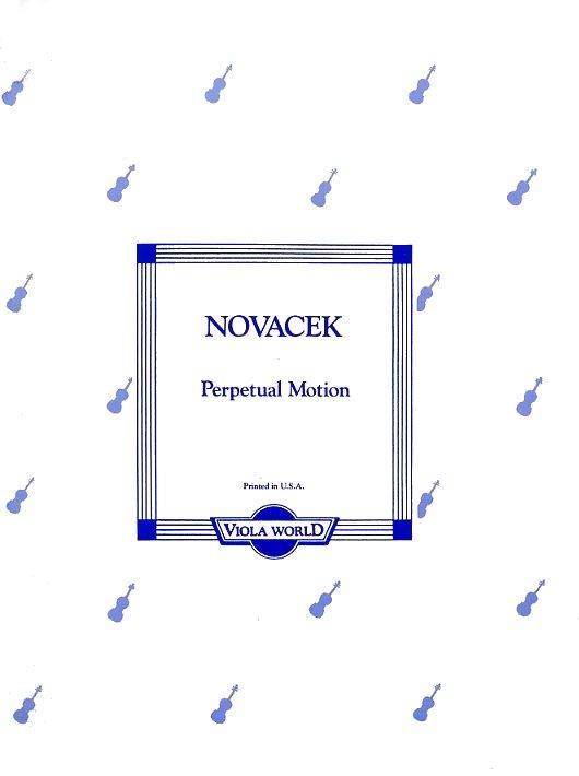 Ottokar Novacek: Perpetual Motion (Viola): Viola: Instrumental Work