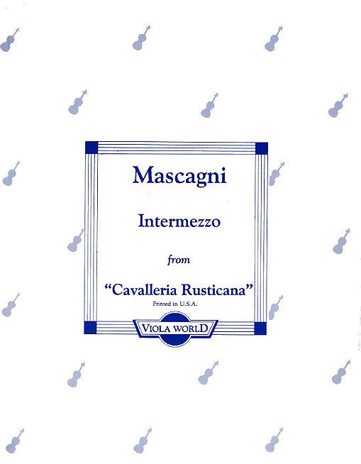 Pietro Mascagni: Intermezzo From 'Cavalleria Rusticana': Viola: Instrumental