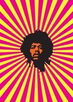 Pop Art: Jimi Hendrix - Greeting Card