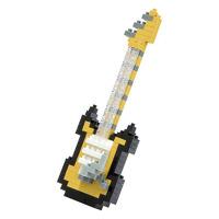 Nanoblock Electric Guitar Black And Yellow: Construction