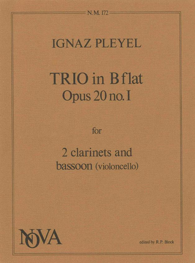 Ignace Pleyel: Trio In B-Flat: Mixed Ensemble: Instrumental Album