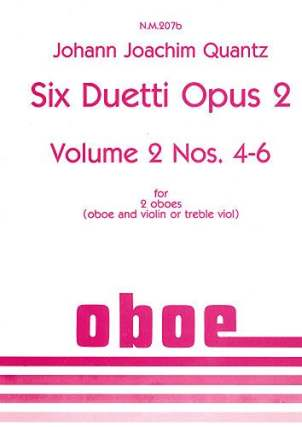 Johann Joachim Quantz: Six Duetti Opus 2 Volume 2 Nos. 4-6: Oboe Duet:
