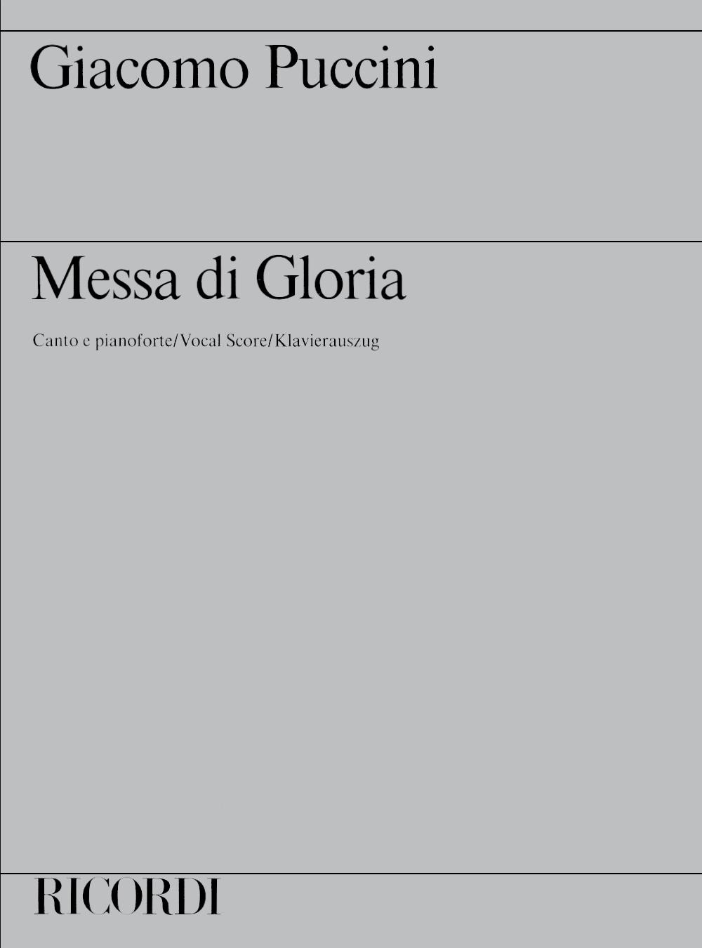 Giacomo Puccini: Messa Di Gloria: SATB: Instrumental Work