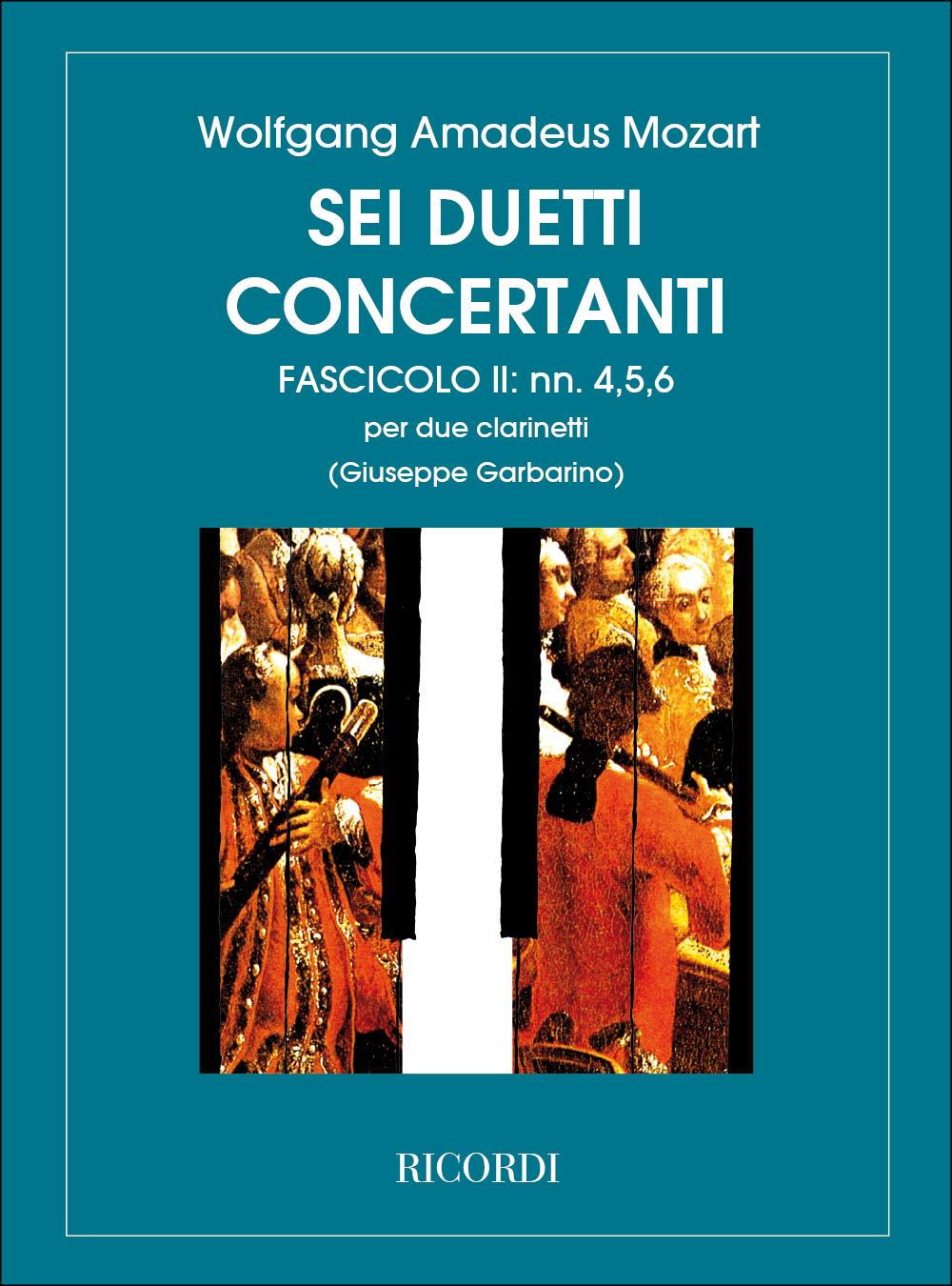 Wolfgang Amadeus Mozart: 6 Duetti Concertanti Per 2 Clarinetti: Clarinet Duet