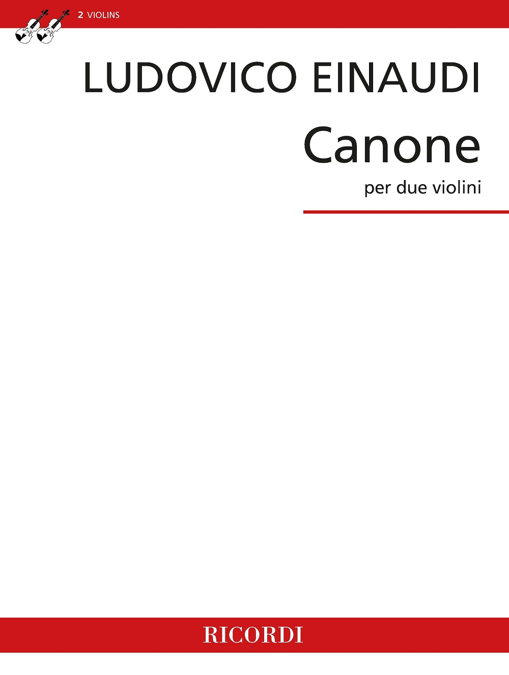 Ludovico Einaudi: Canone per due violini: Violin Duet: Instrumental Work