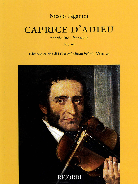 Niccolò Paganini: Caprice d'Adieu: Violin